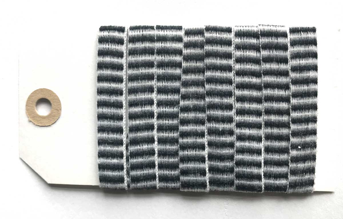Black and White Striped Woven Cotton Tape