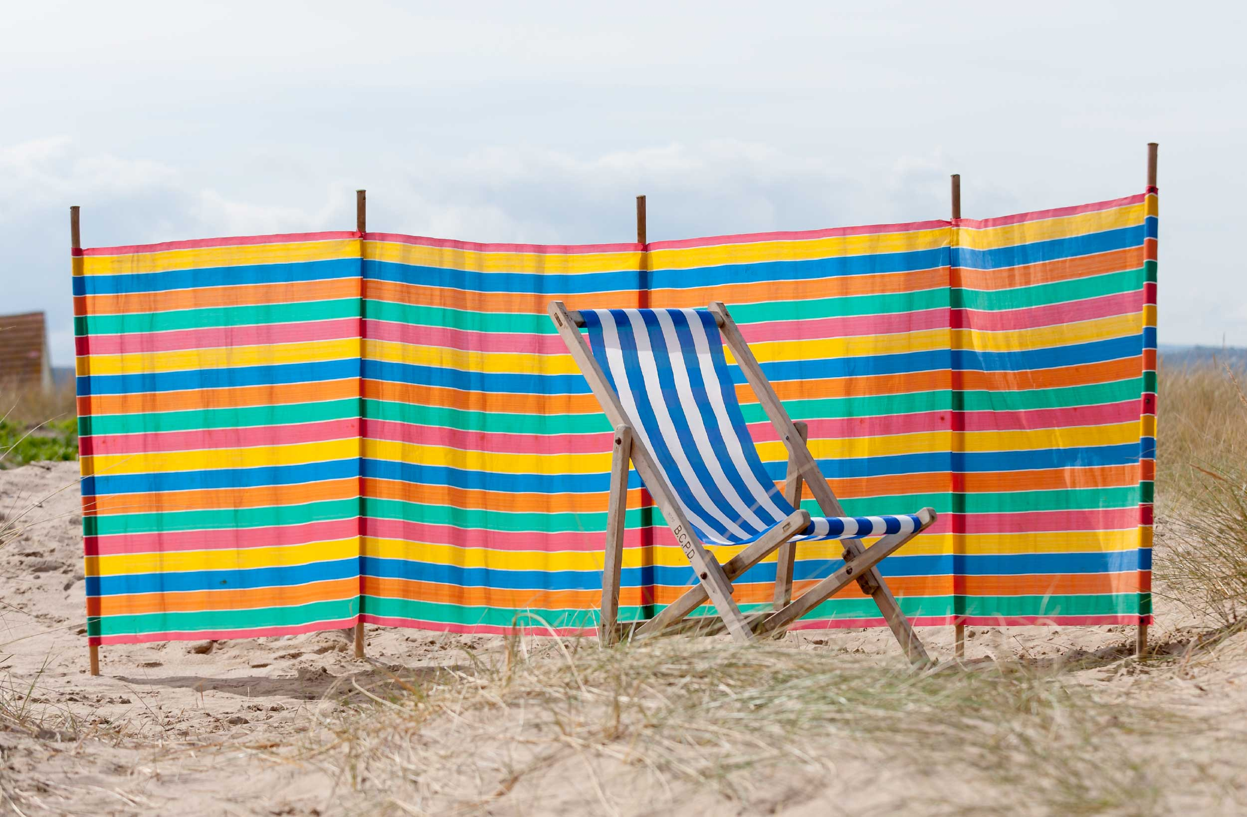 Blackpool Beach Windbreaks