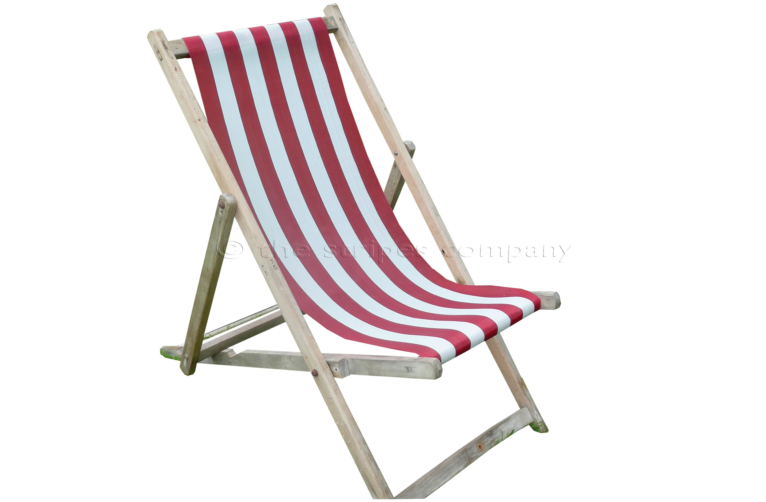 Buy Blackpool Deckchairs With Red And White Sling