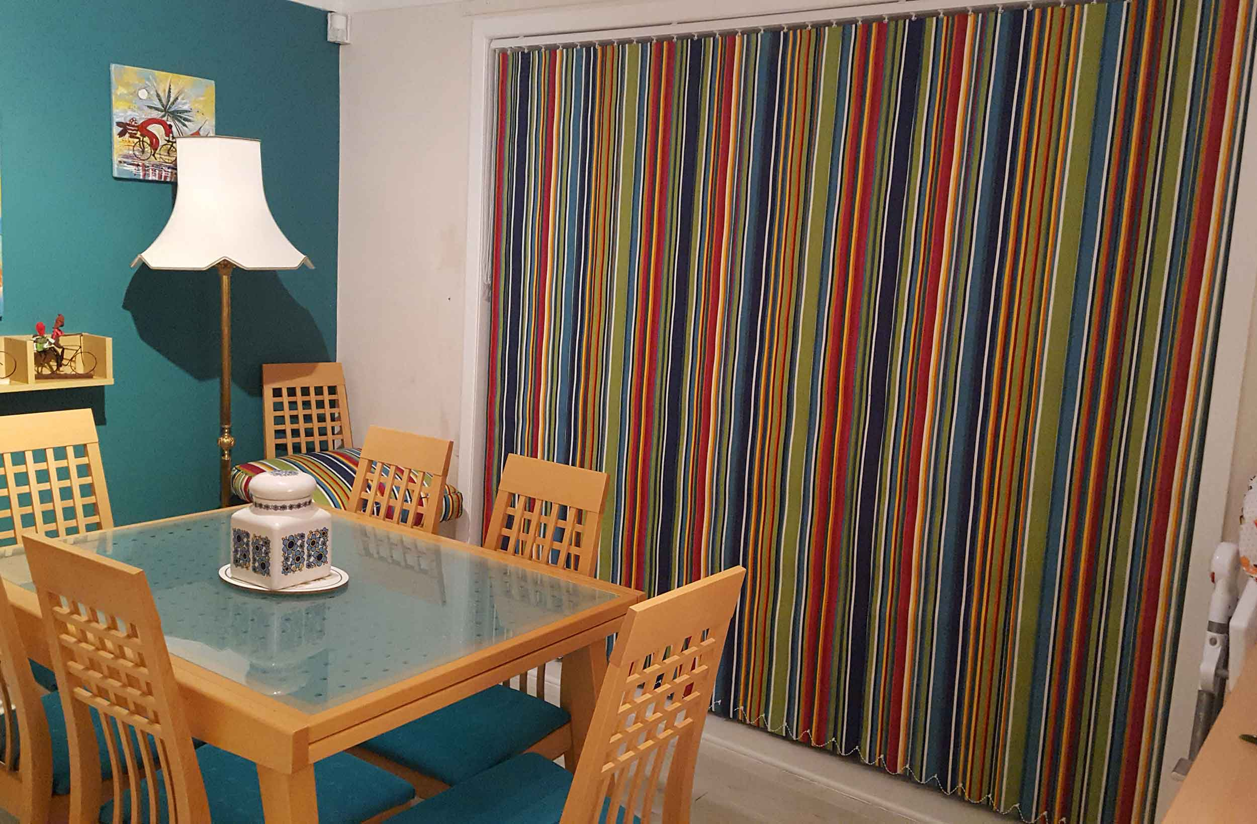 Striped Vertical Blind