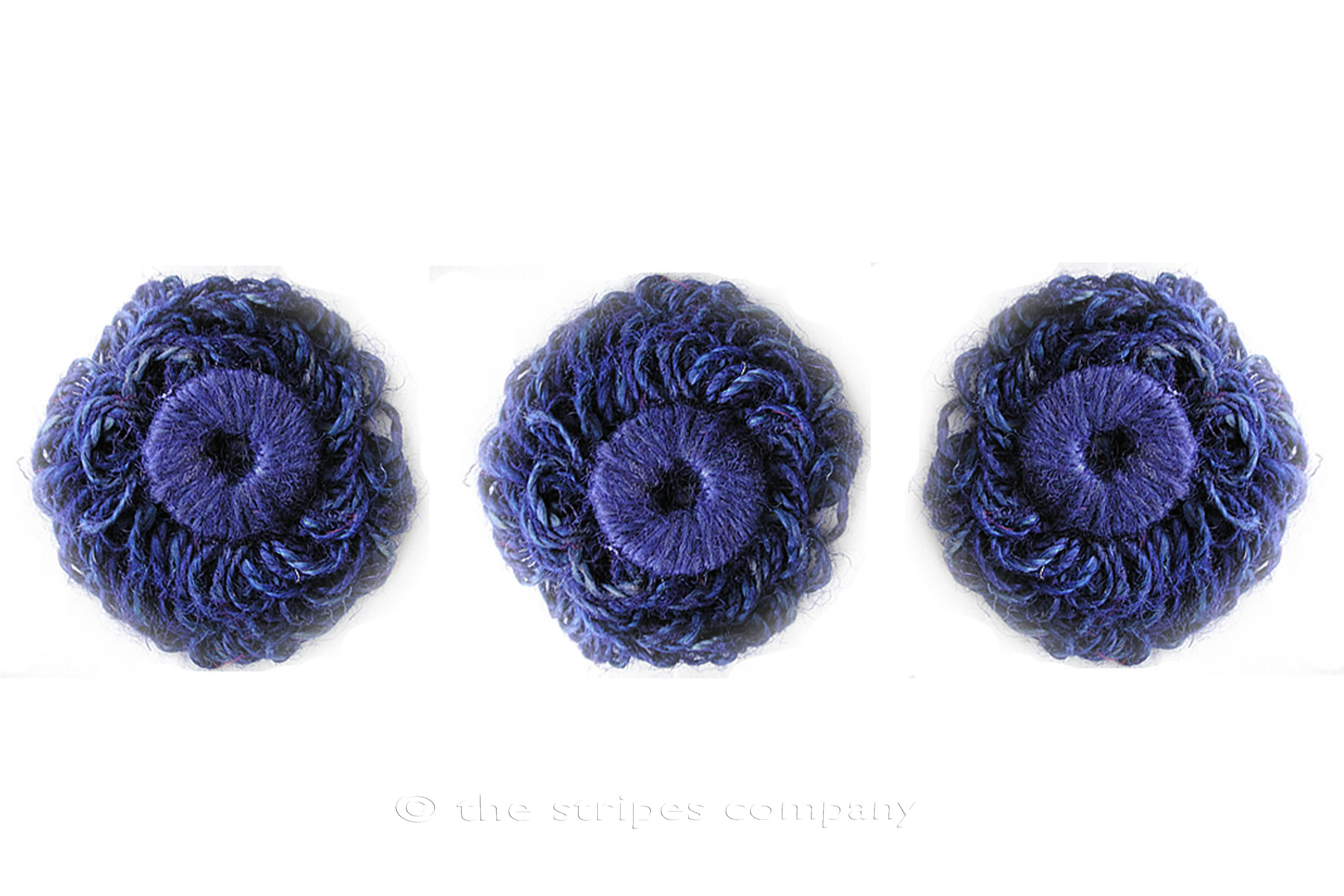 Blue Jute Flower Rosettes - Fabric Flowers - Fabric Rosettes Blue