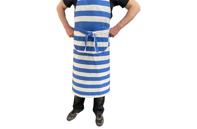 Blue and White Stripe Cotton Aprons