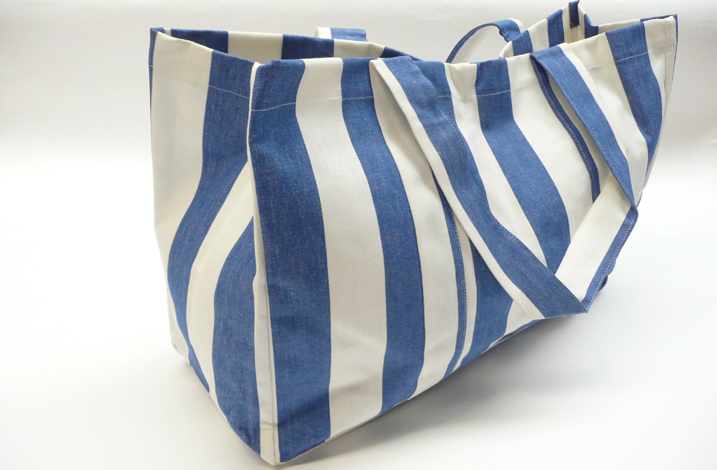 Extra Large Blue and White Beach Bag | The Stripes Company UK
