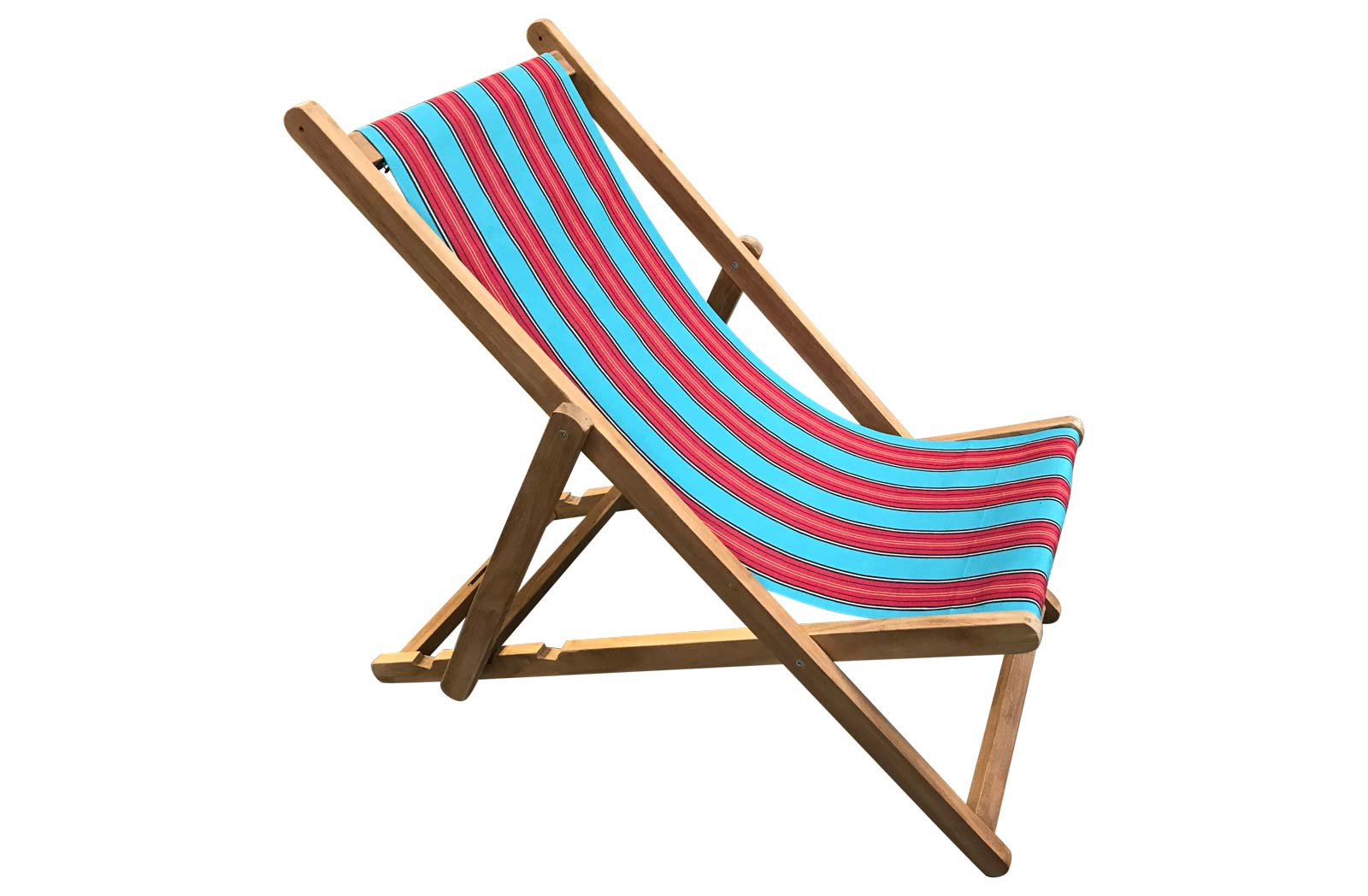Light Blue and Red Deckchairs