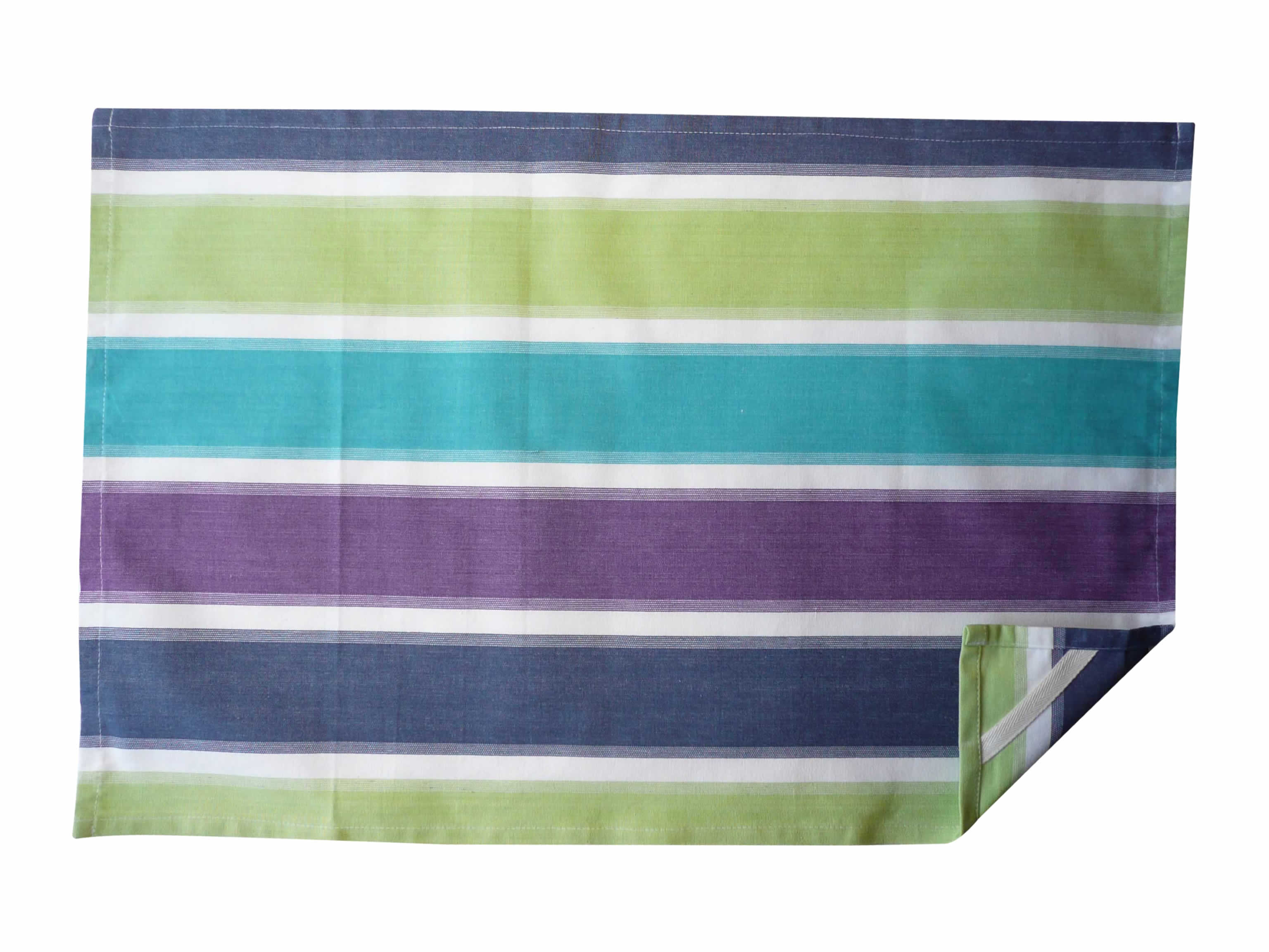 lime green, turquoise, white - Stripe Tea Towels | Striped Teatowels
