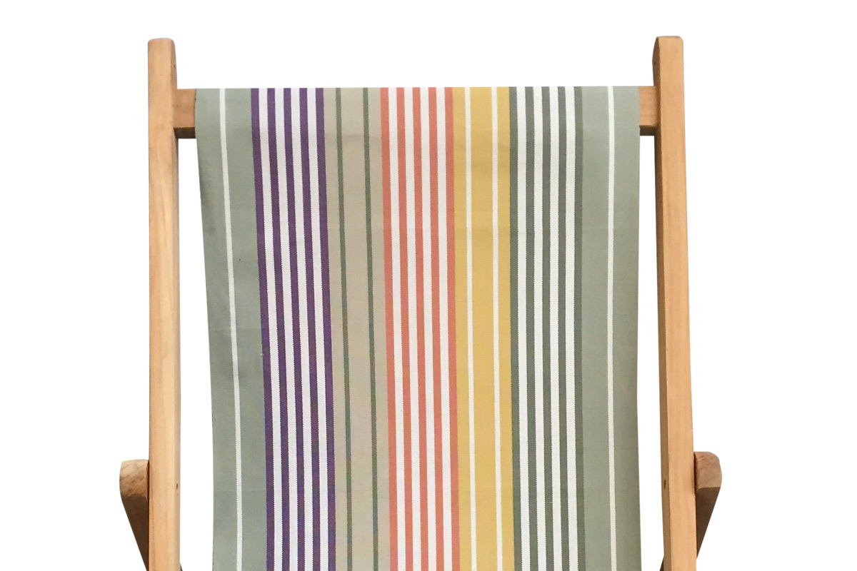 sage green, purple, mustard - Deckchair Canvas | Deckchair Fabrics | Striped Deck Chair Fabrics