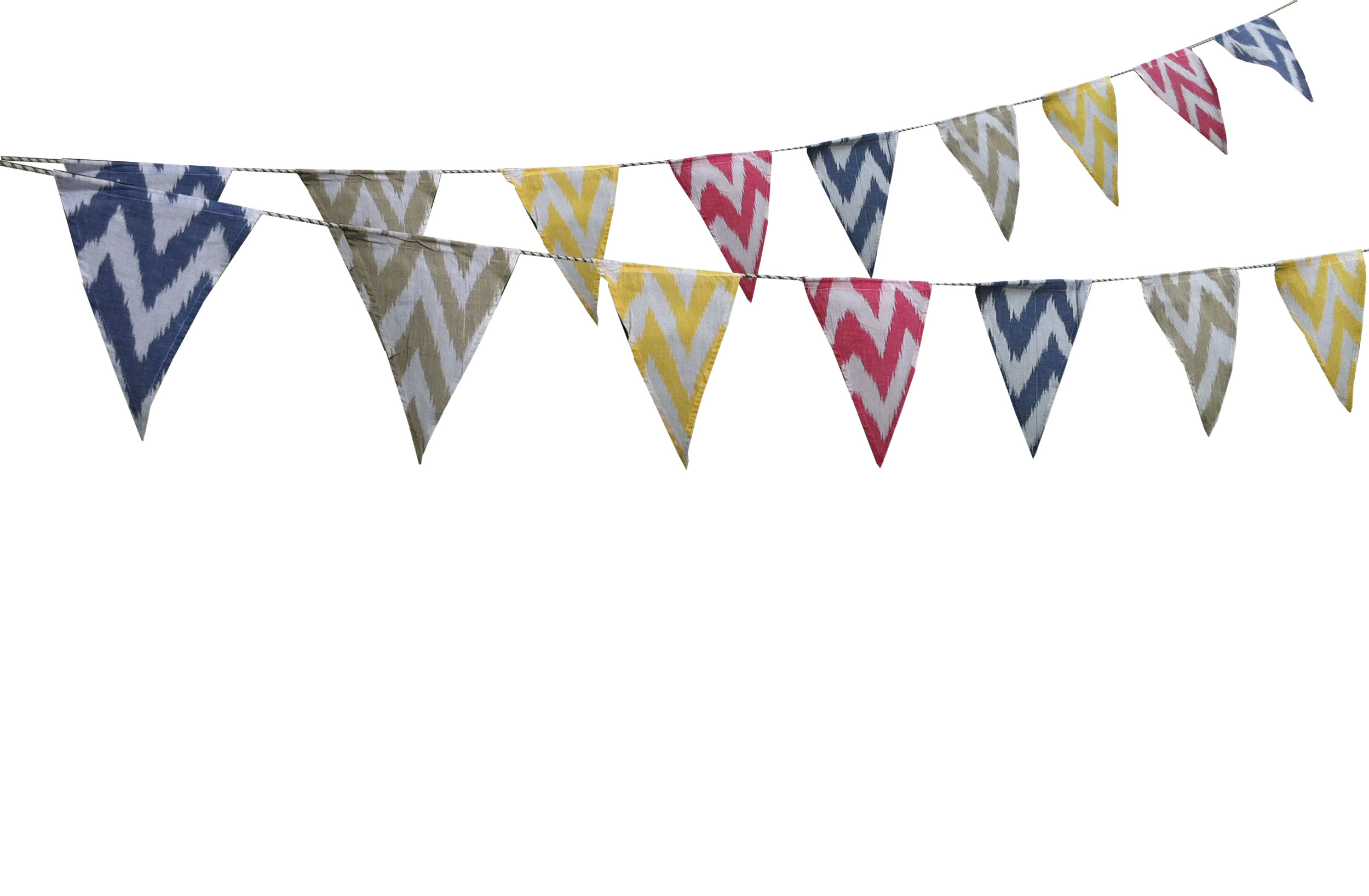 ikat- Cotton Bunting