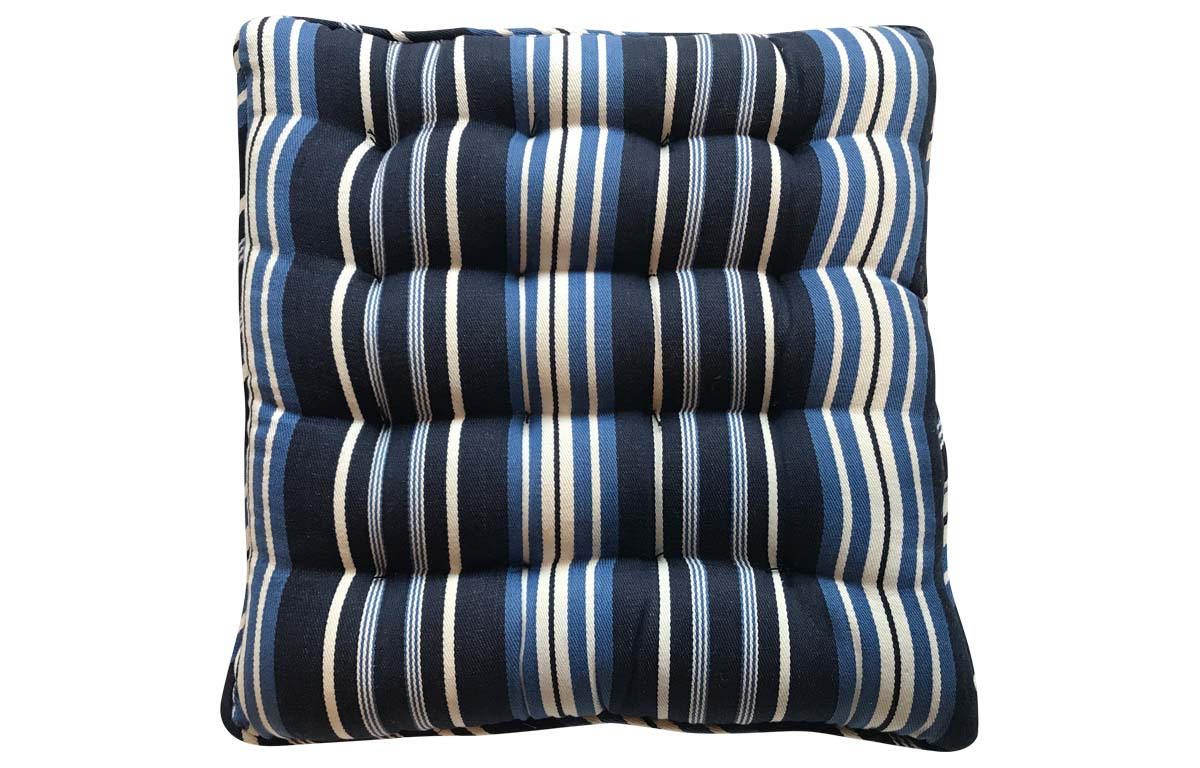 Navy Blue Striped Seat Pads | The Stripes Company