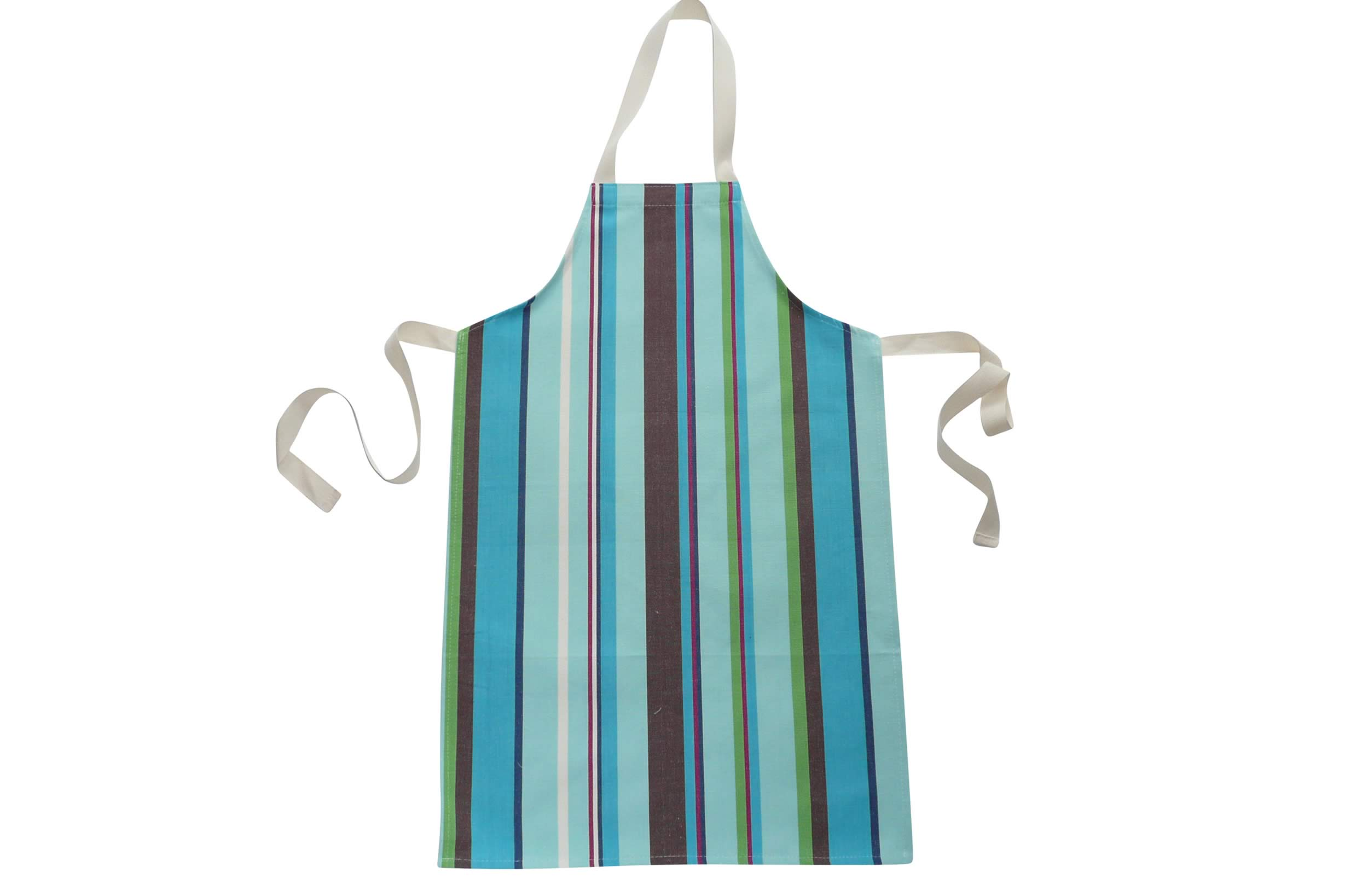 Turquoise Striped Children's Aprons