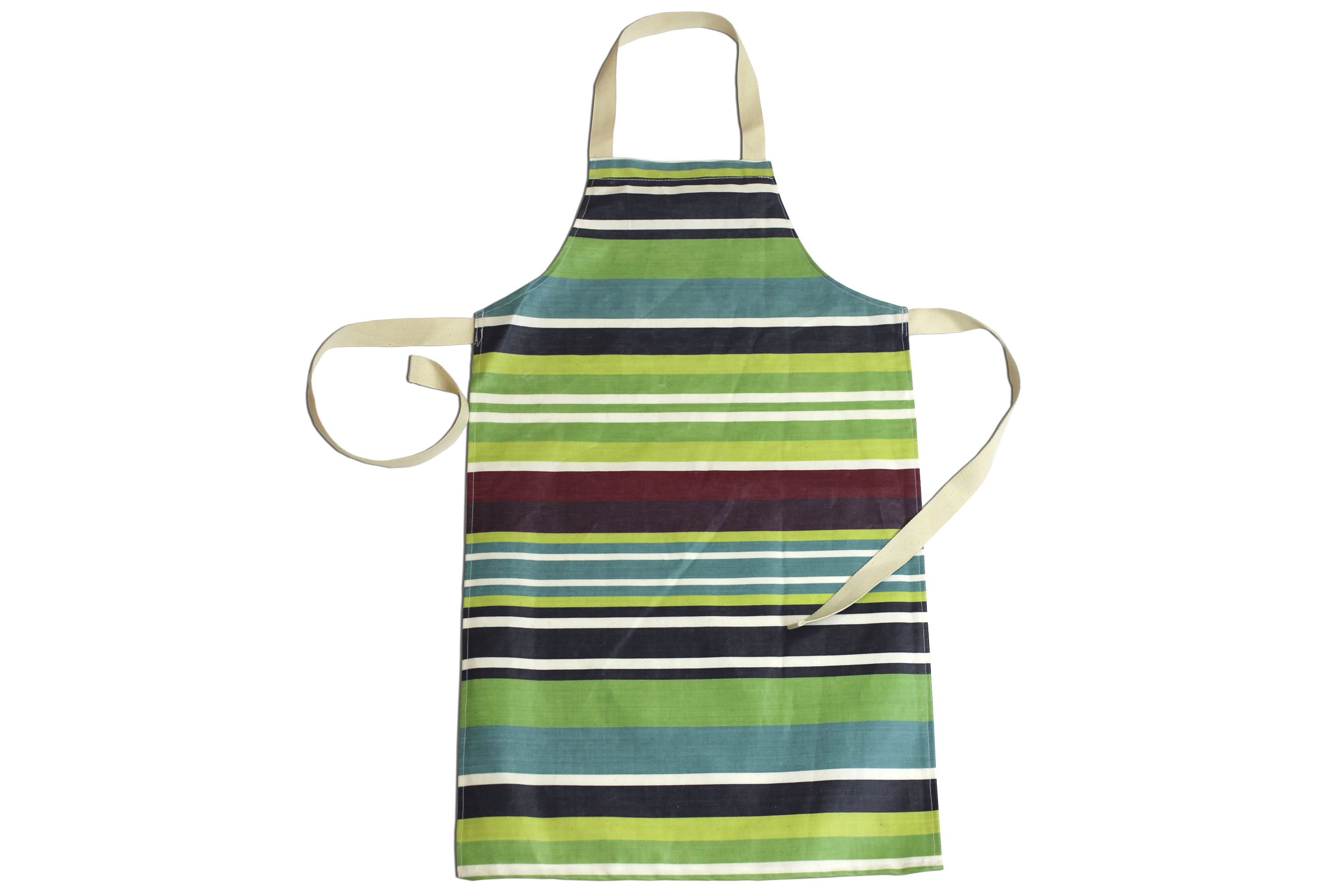 Navy Green Striped PVC Childs Apron