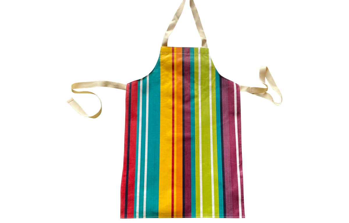 Bright Striped PVC Kids Aprons | Childrens Wipe Clean PVC aprons