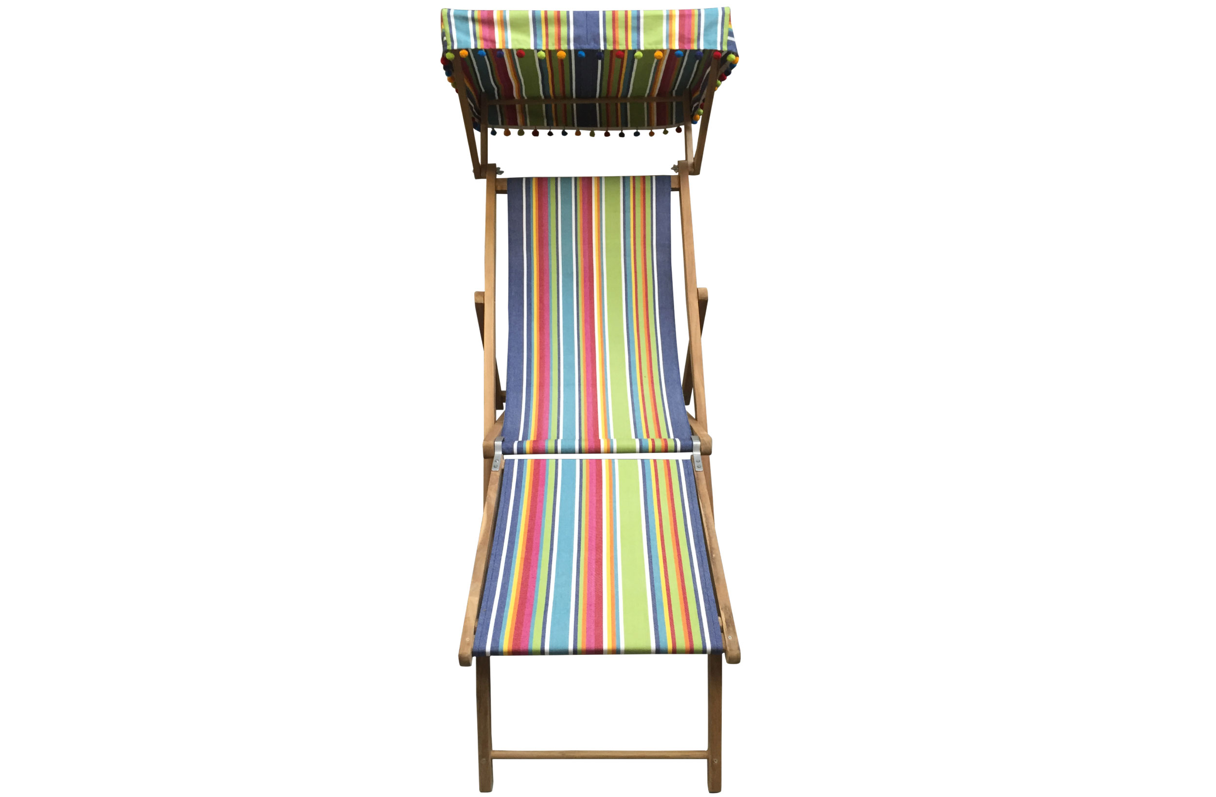 blue, green, red - Edwardian Deckchairs with Canopy and Footstool