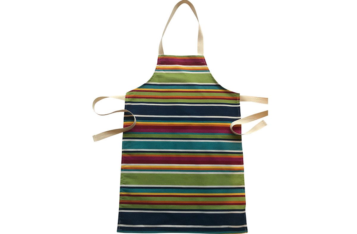 blue, green, red - Striped Childrens Aprons