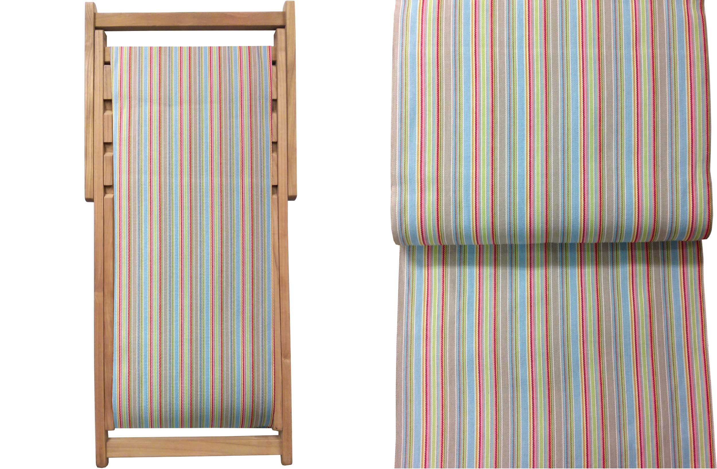 Teak Deck Chairs duck egg blue, beige, light green