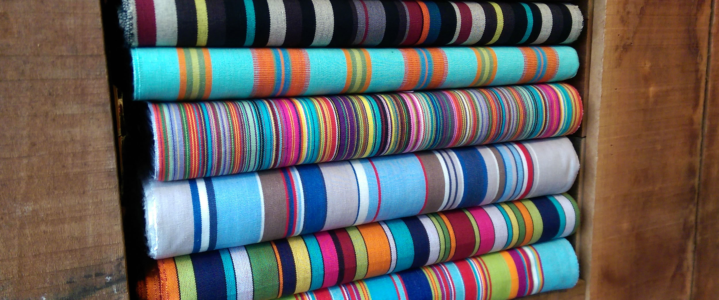 thin rainbow multi stripes - Deckchair Canvas | Deckchair Fabrics | Striped Deck Chair Fabrics