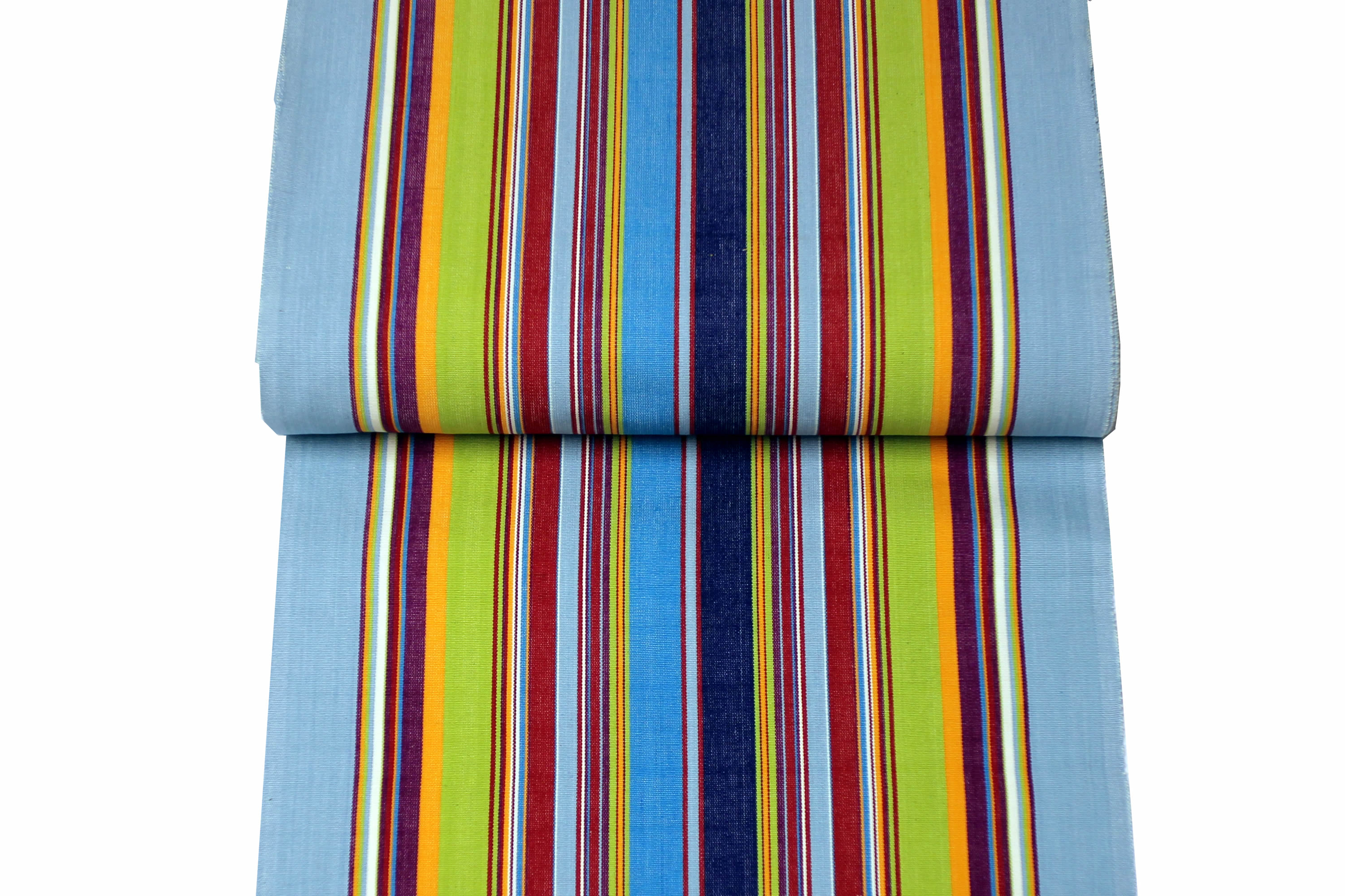Pale Blue Deckchair Canvas | Deckchair Fabrics | Striped Deck Chair Fabrics Flamenco Stripes