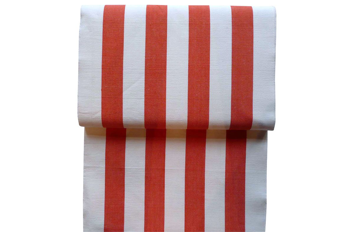 Orange and White Stripe Deckchair Headrest Cushions | Tie on Pompom Headrest Pillow