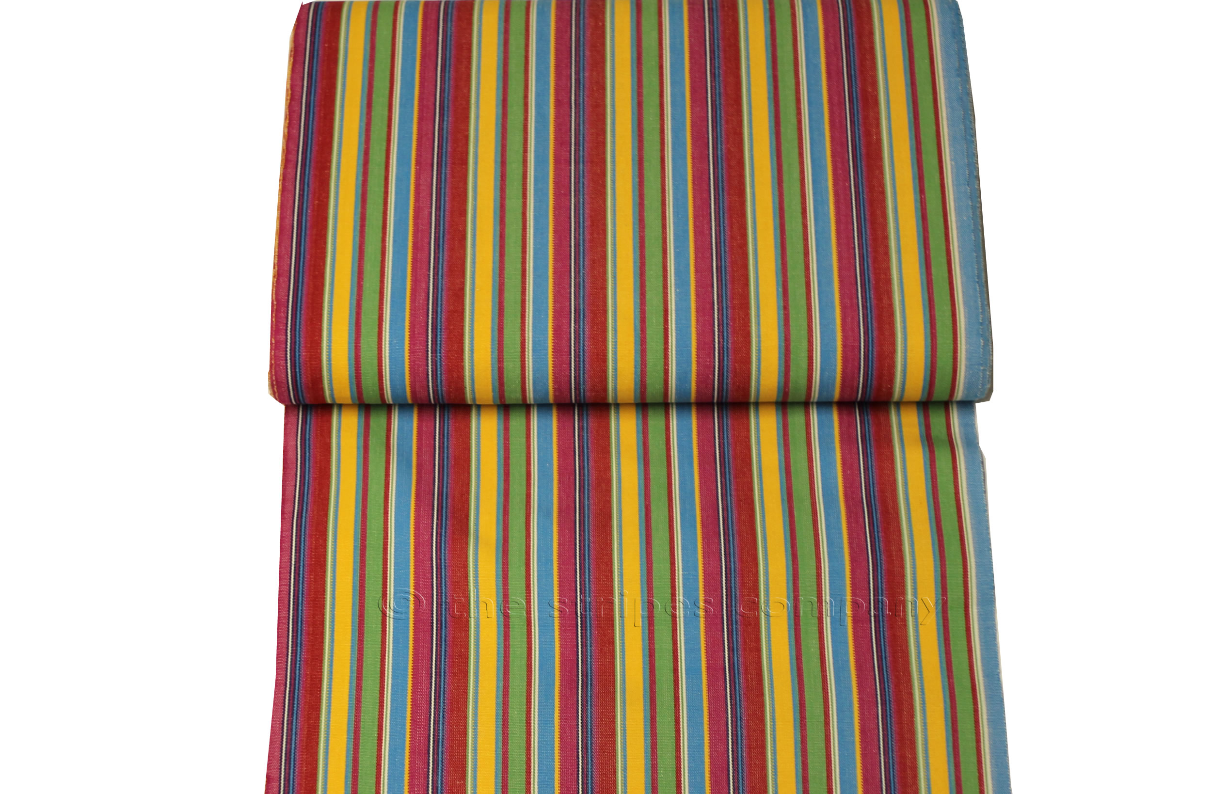 Pink Deckchair Canvas | Deckchair Fabrics | Striped Deck Chair Fabrics Pink  Green  Yellow  Stripes