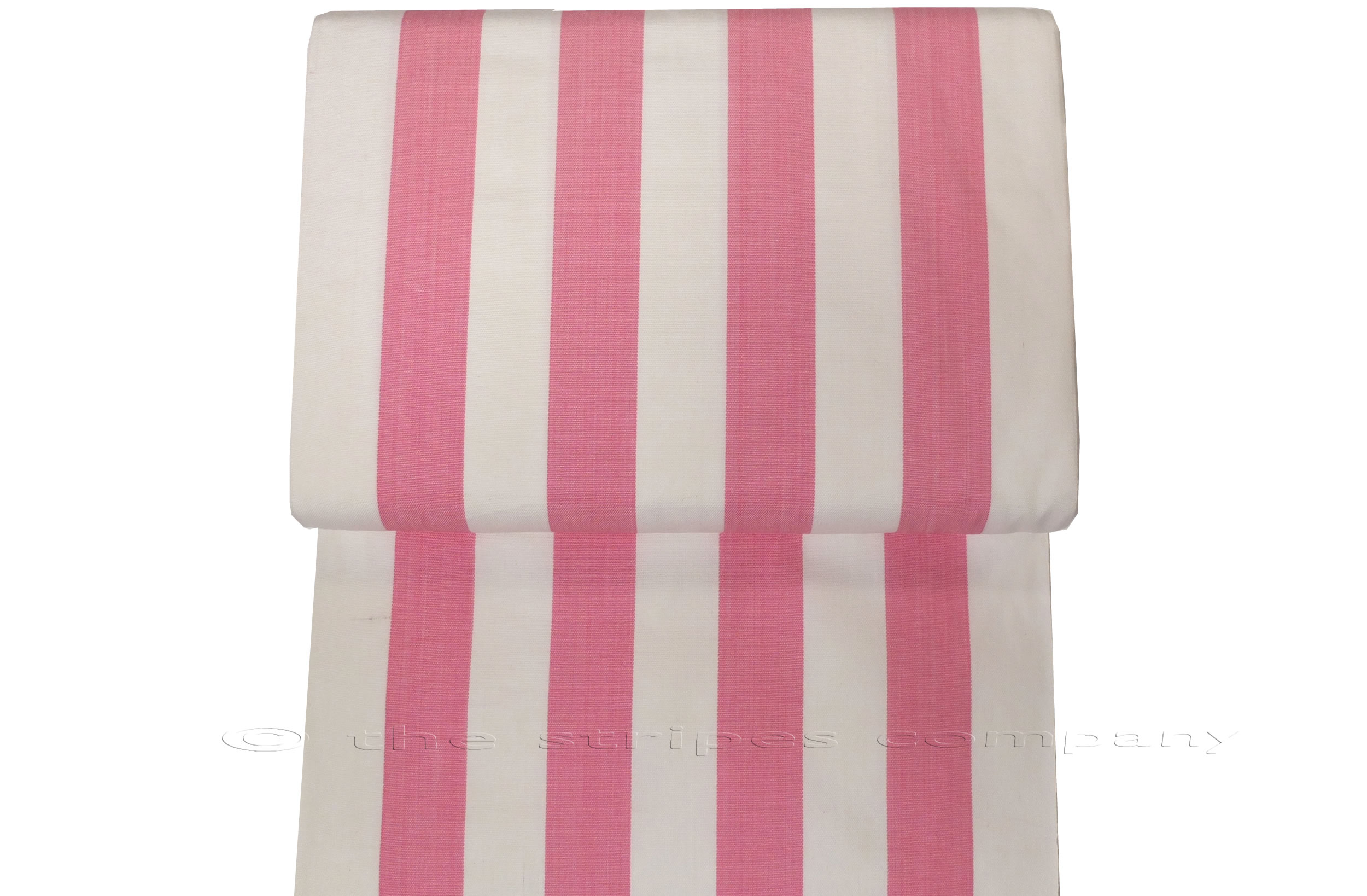 Pink White Striped Deckchair Canvas Fabric The Stripes