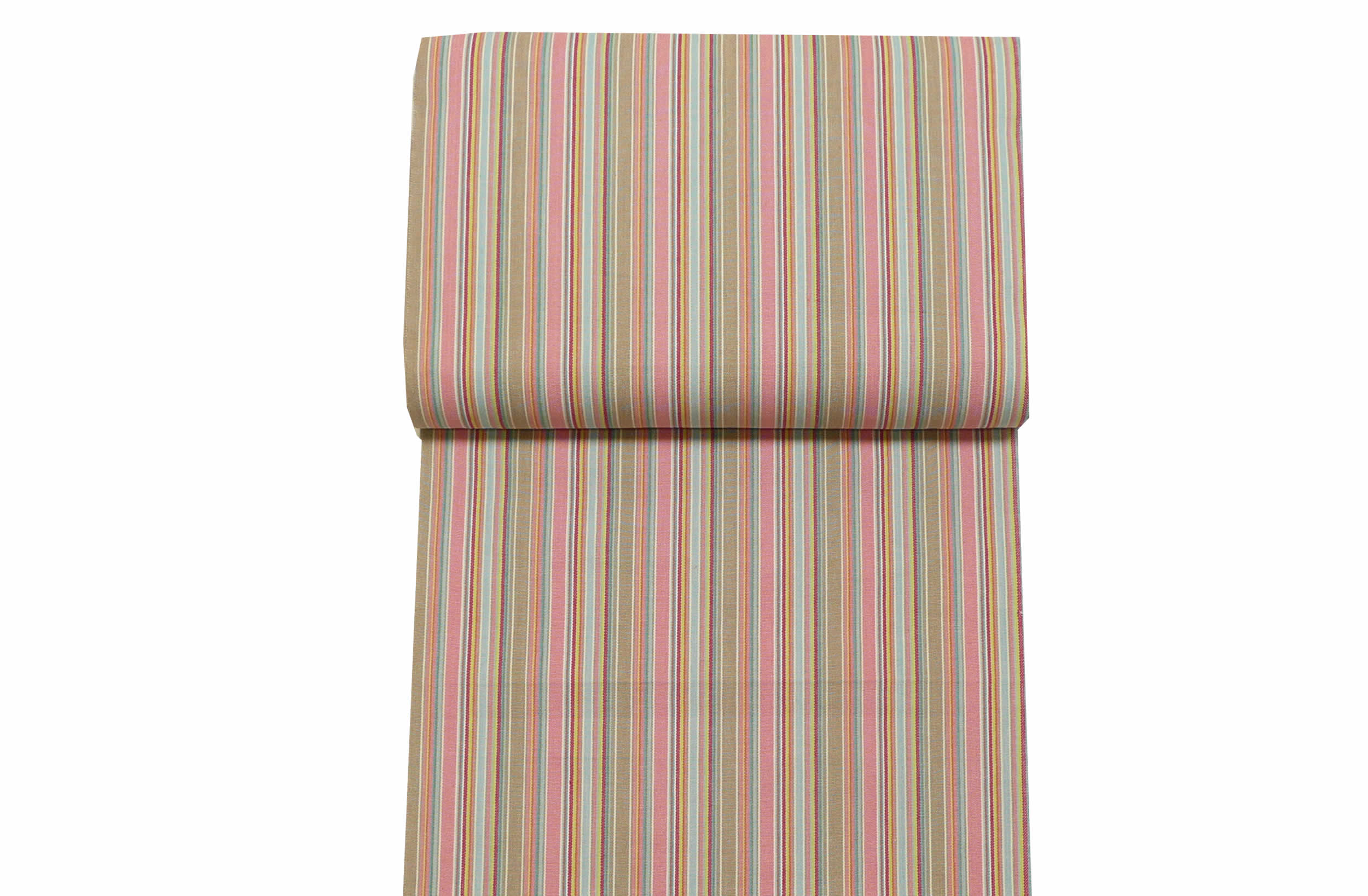 Pink and Taupe Deckchair Canvas Fabric