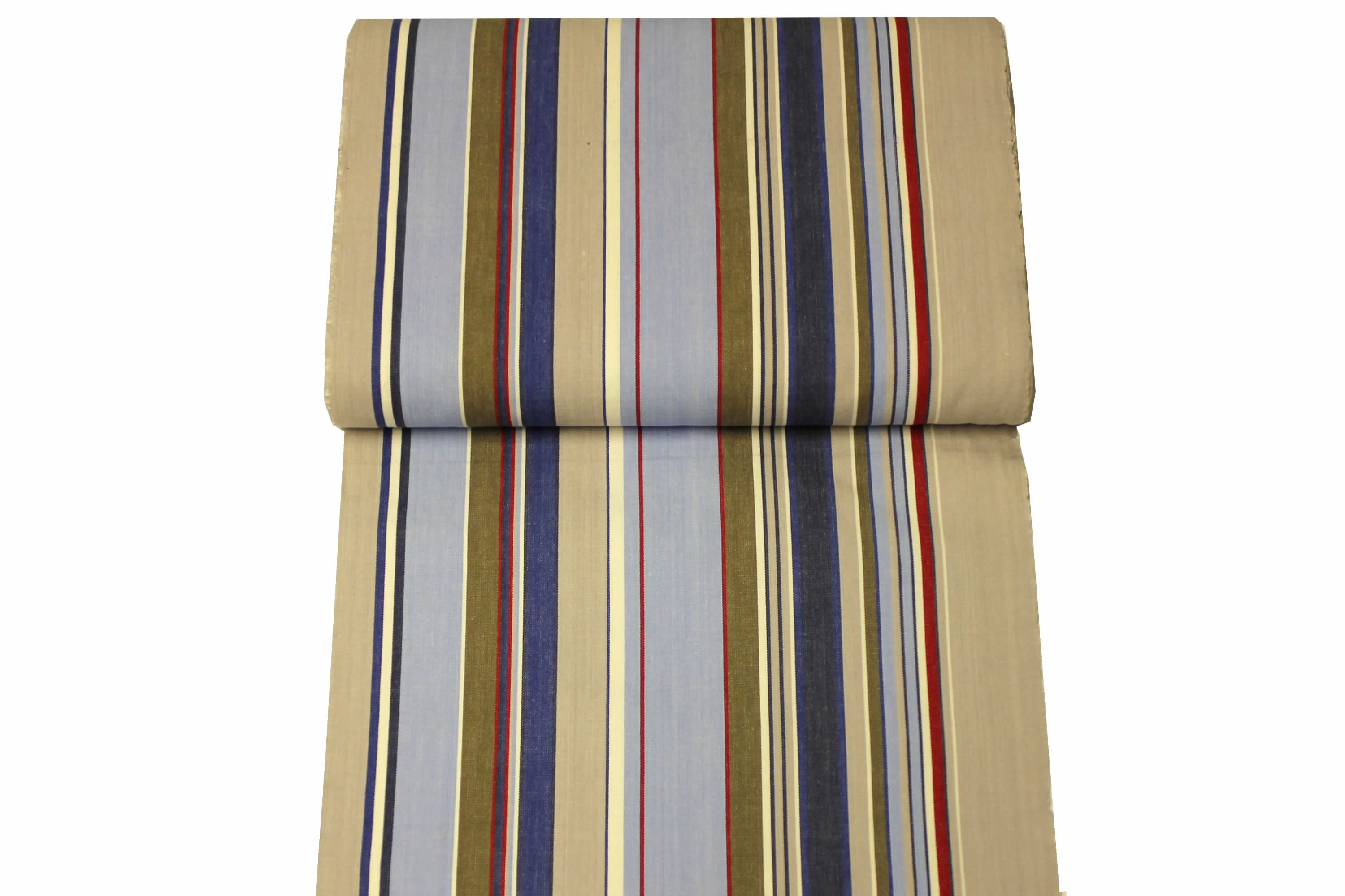 Pale Blue Deckchair Canvas | Striped Deck Chair Fabrics Trapeze Stripes