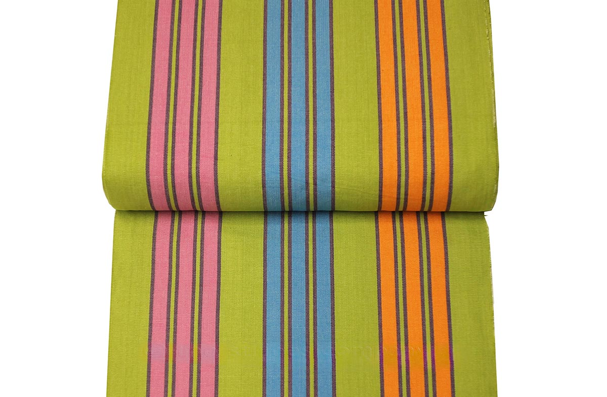 Deckchair Canvas Striped Deck Chair Fabric Green