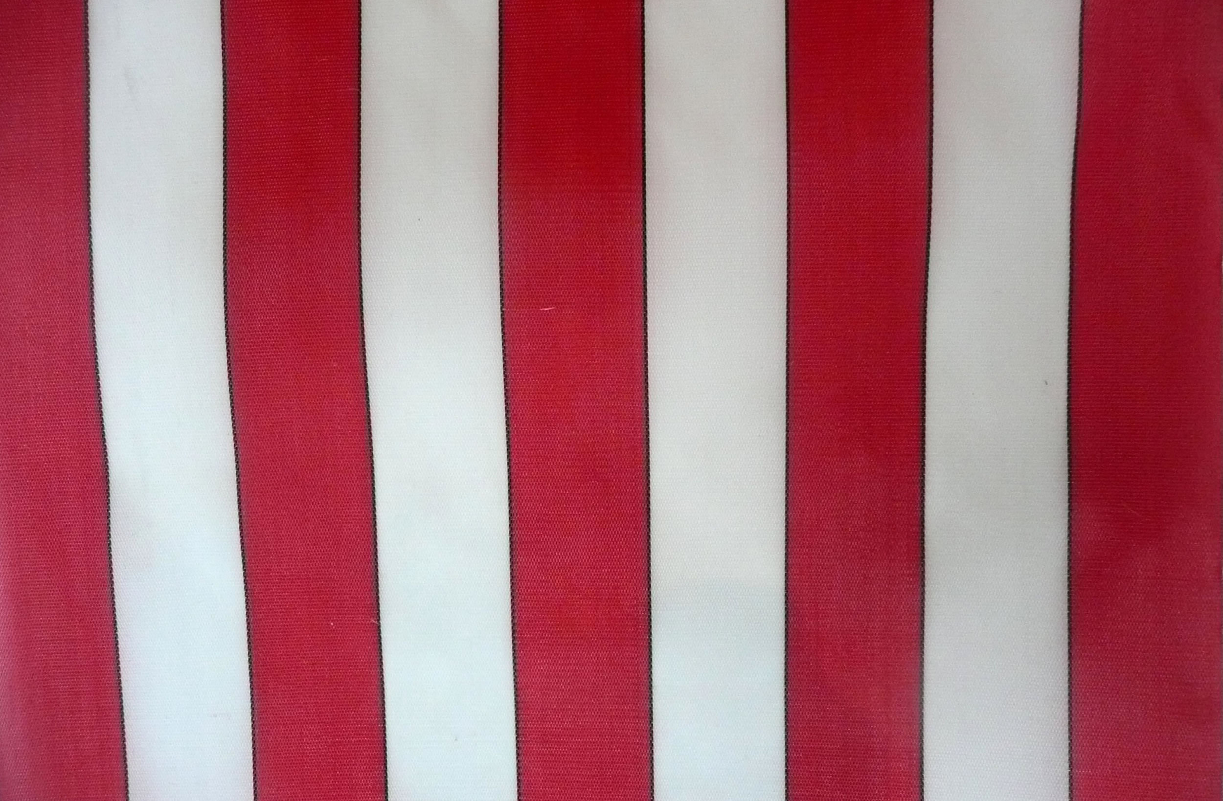 Red and White Waterproof Deckchair Fabric