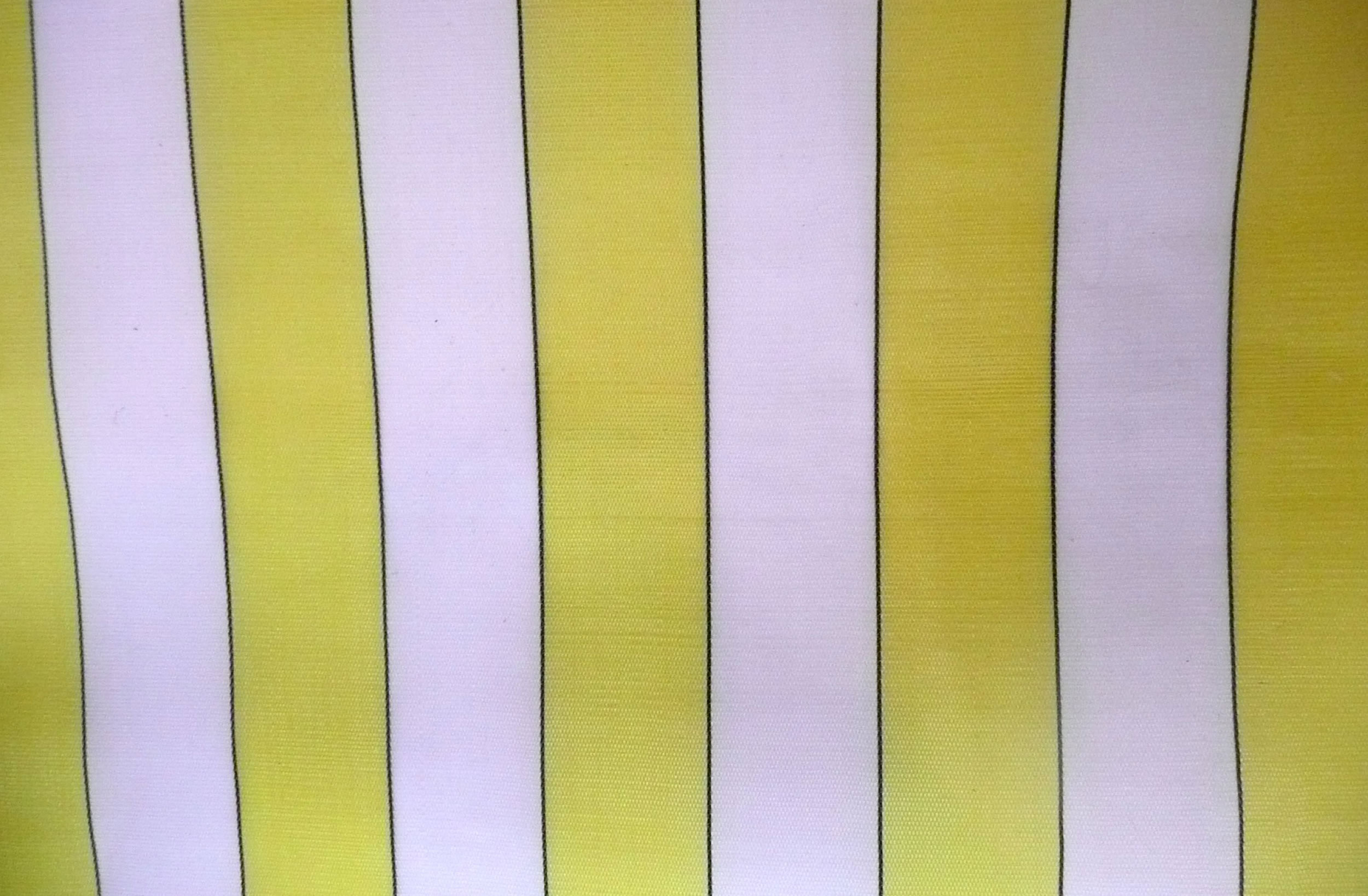 Yellow and White Waterproof Deckchair Canvas