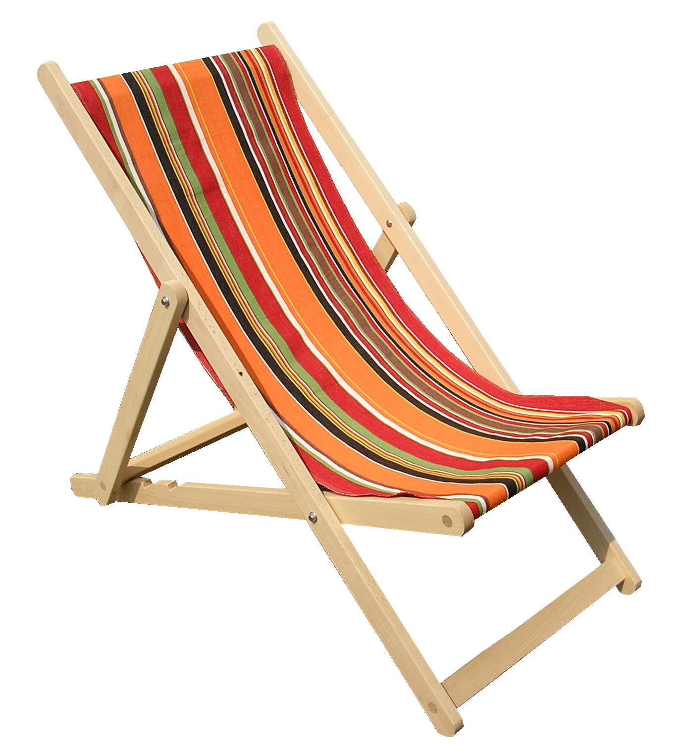 Orange Deckchairs Wooden Folding Deck Chairs Skipping