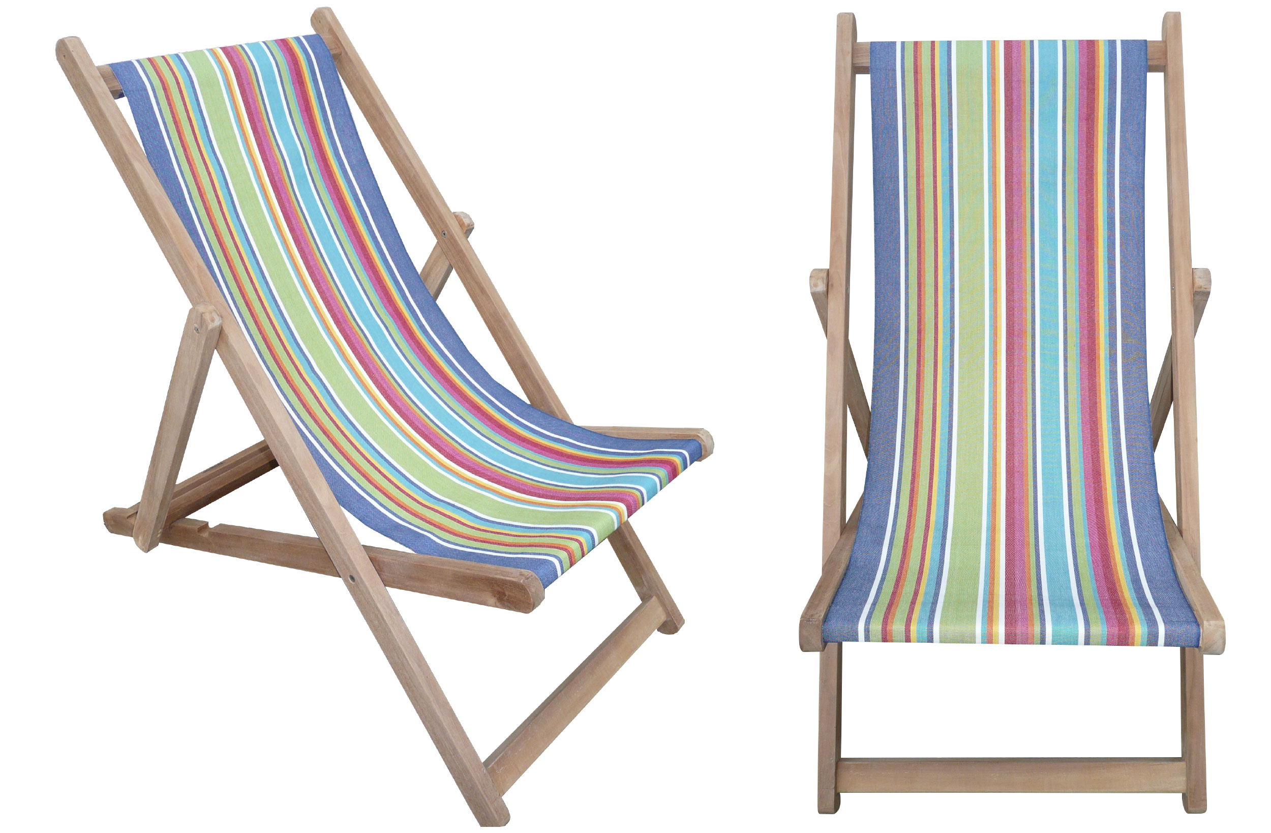Wooden Deck Chairs -Climbing Stripe