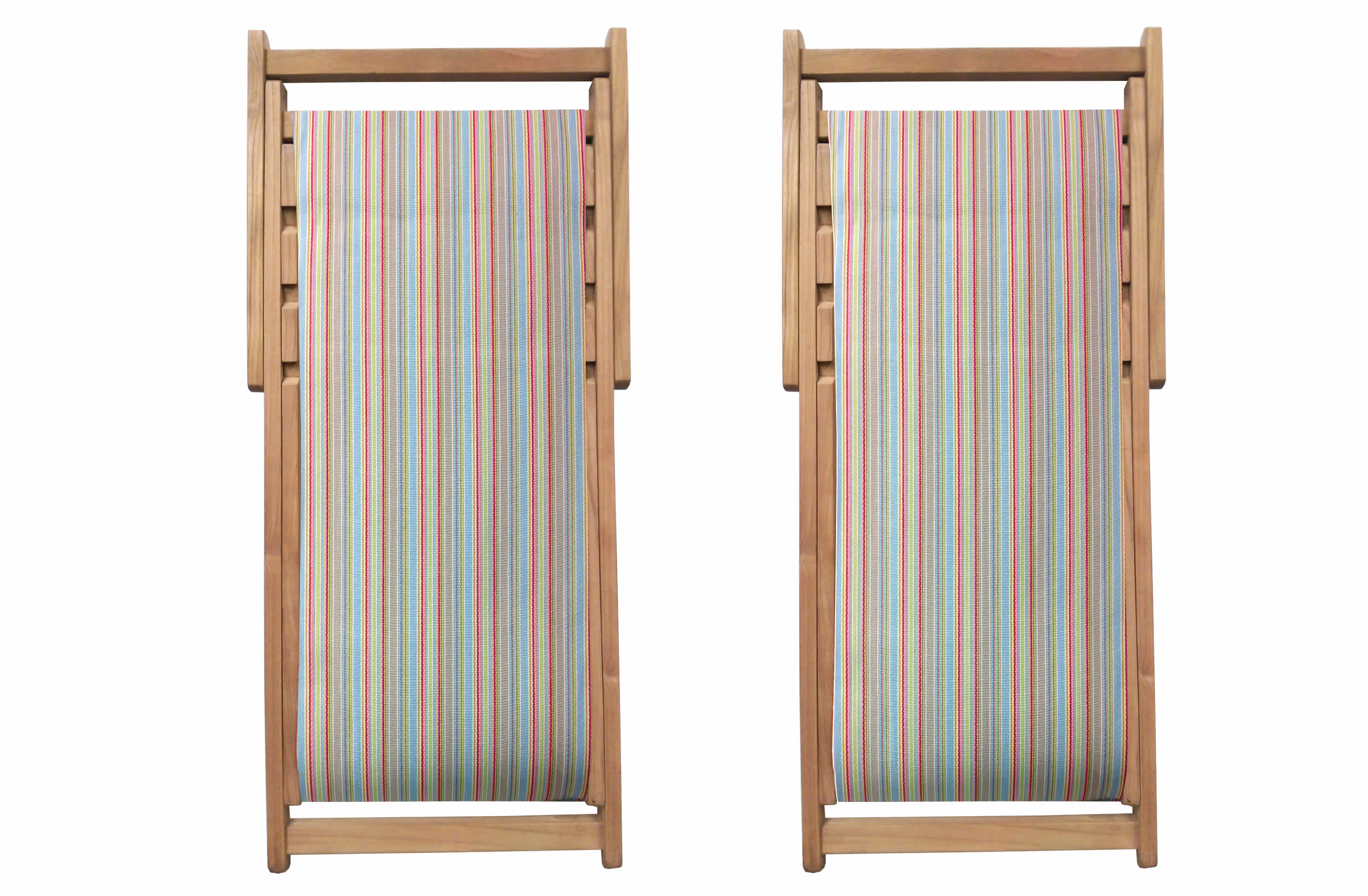 Cricket Deckchairs | Folding Wooden Deck Chairs Cricket Stripe