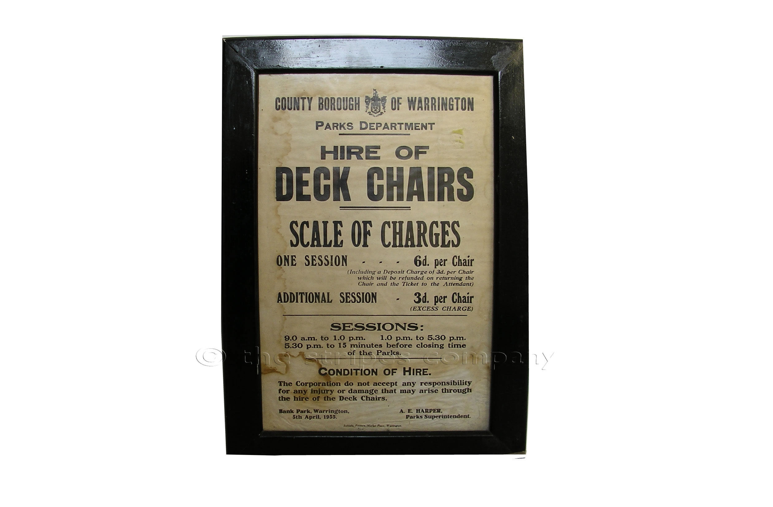 Deckchair Posters| Deckchairs for Hire Poster| Hire of Deck Chairs Posters