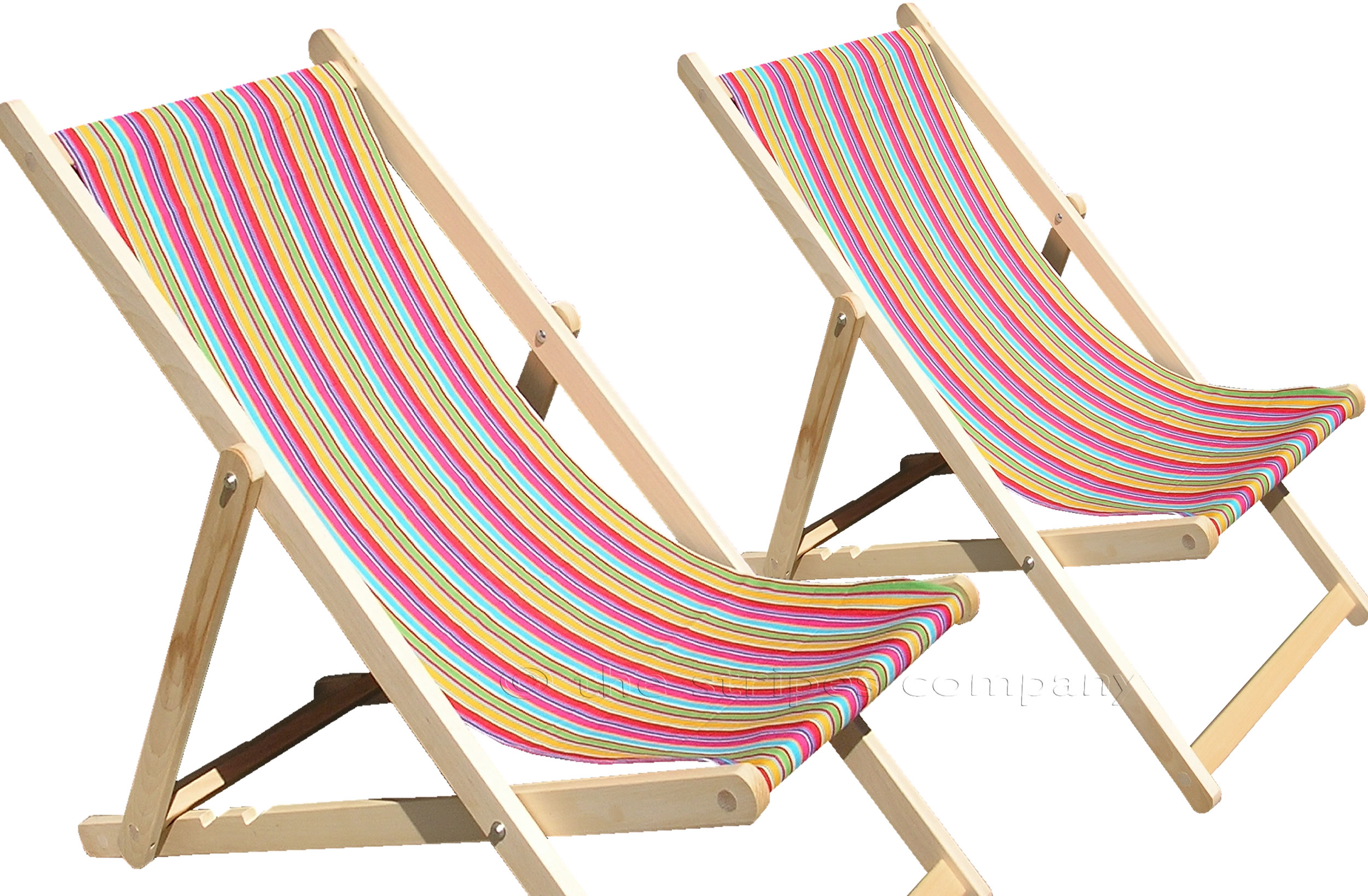 Karting Pink Deckchair Canvas Fabric The Stripes Company UK
