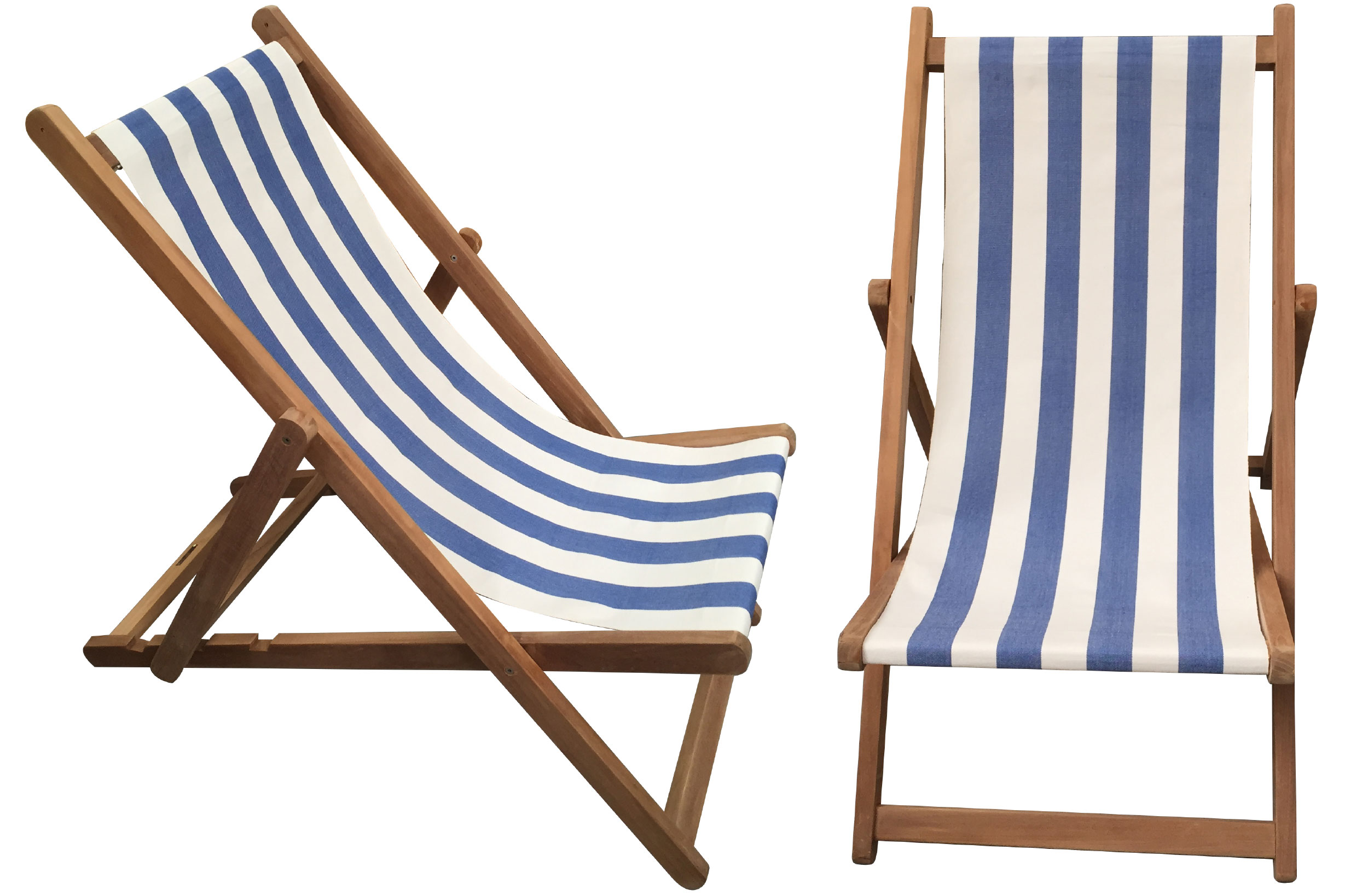 Blue & White Stripe Deckchair - Soccer Stripe
