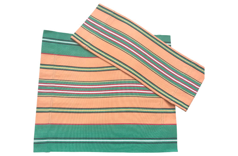 Vintage Green, Terracotta Stripe Directors Chair Covers | Replacement Director Chair Covers