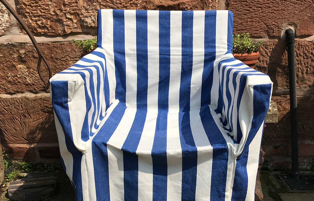 blue, white- Directors Chair Loose Covers