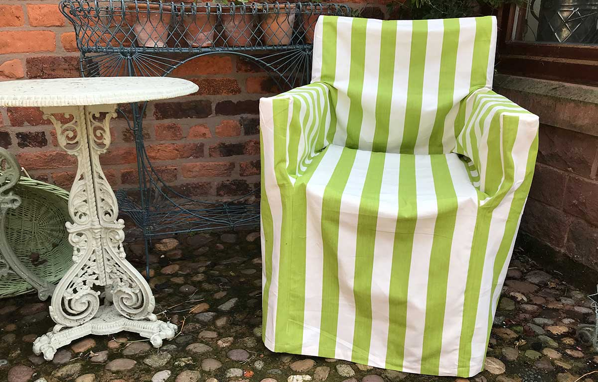 lime green, white- Directors Chair Loose Covers
