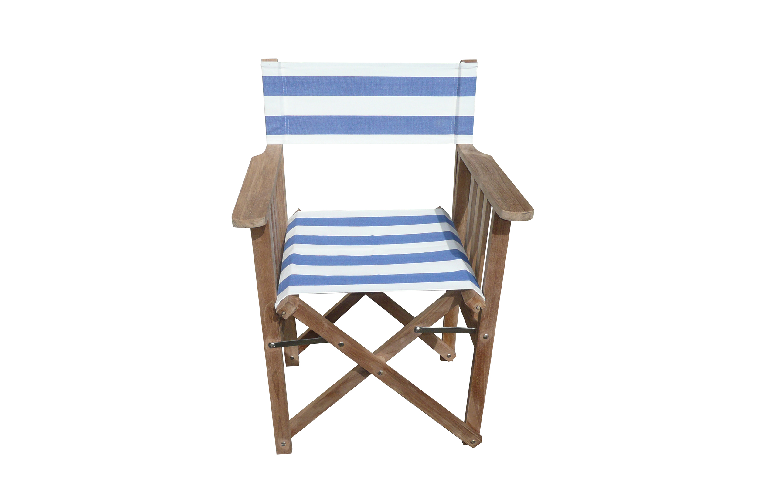 blue, white- Directors Chairs