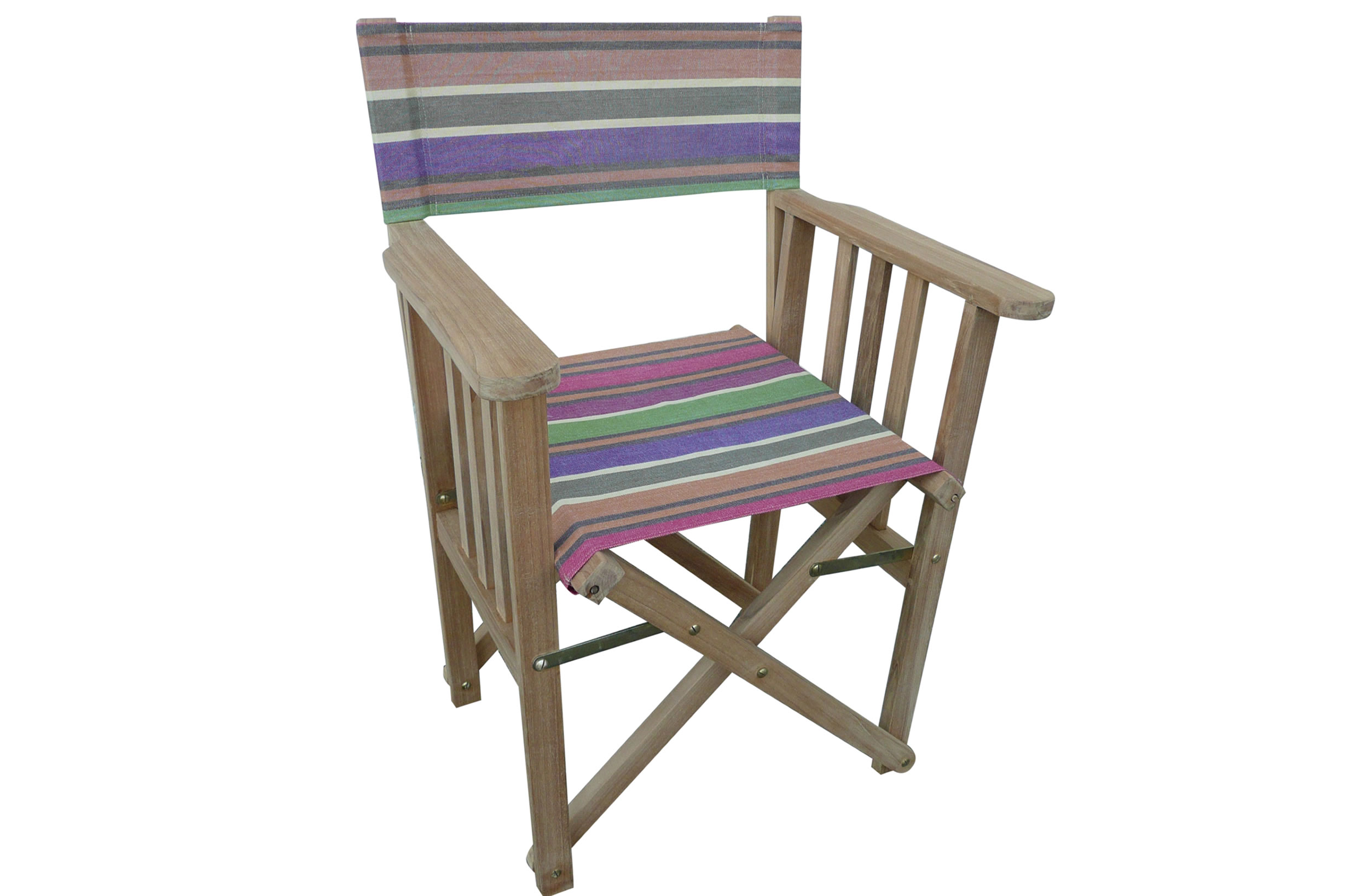 Teak Directors Chairs - Yoga Stripe