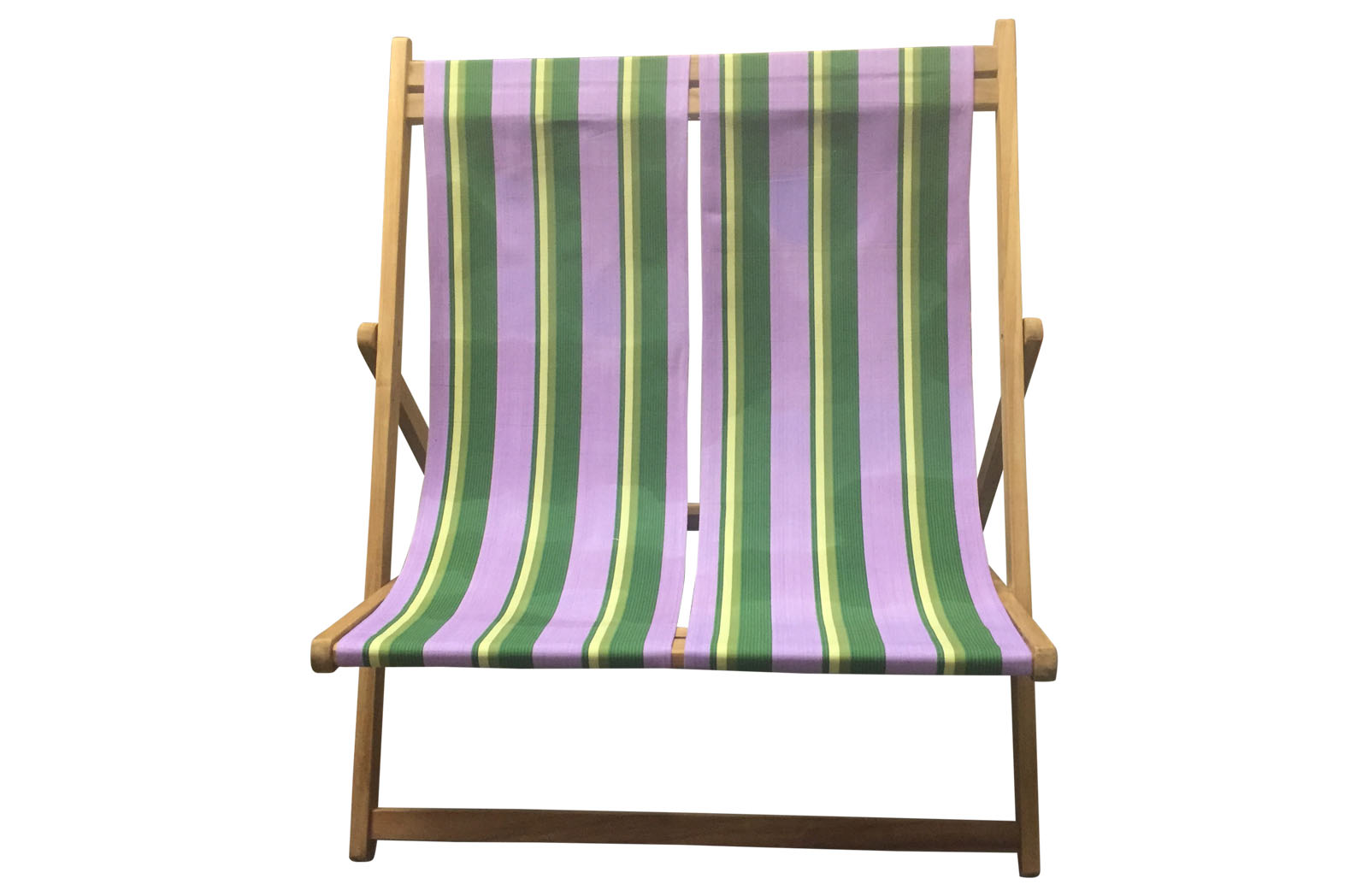 Double Deckchairs lilac, lime, dark green