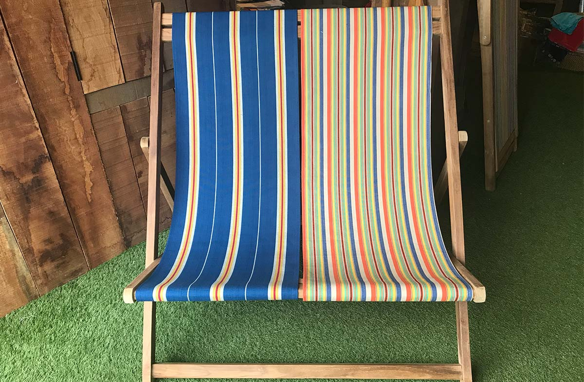 Double Deckchairs with Choice of Cotton Slings
