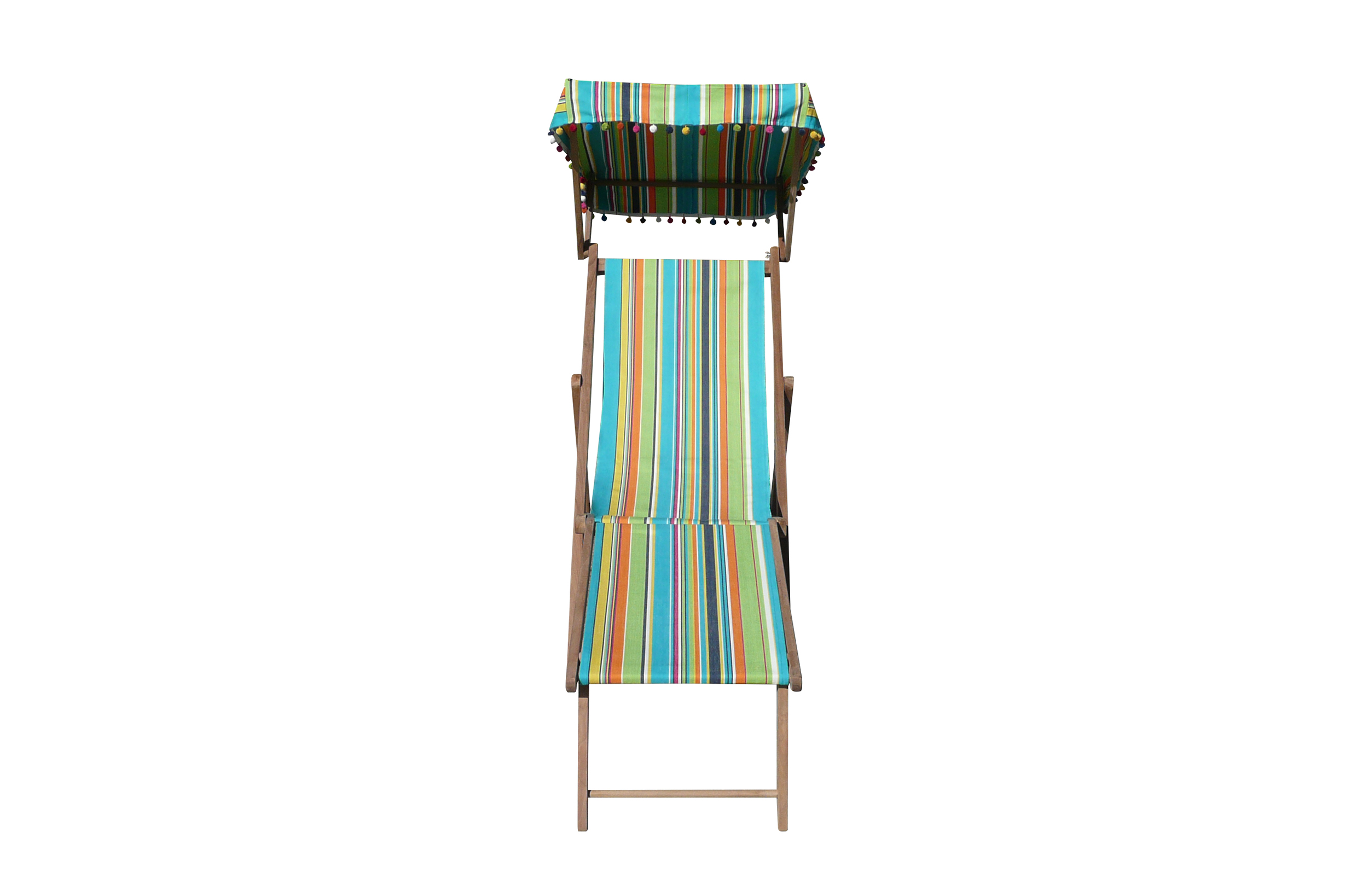 turquoise, lime, navy - Edwardian Deckchairs with Canopy and Footstool