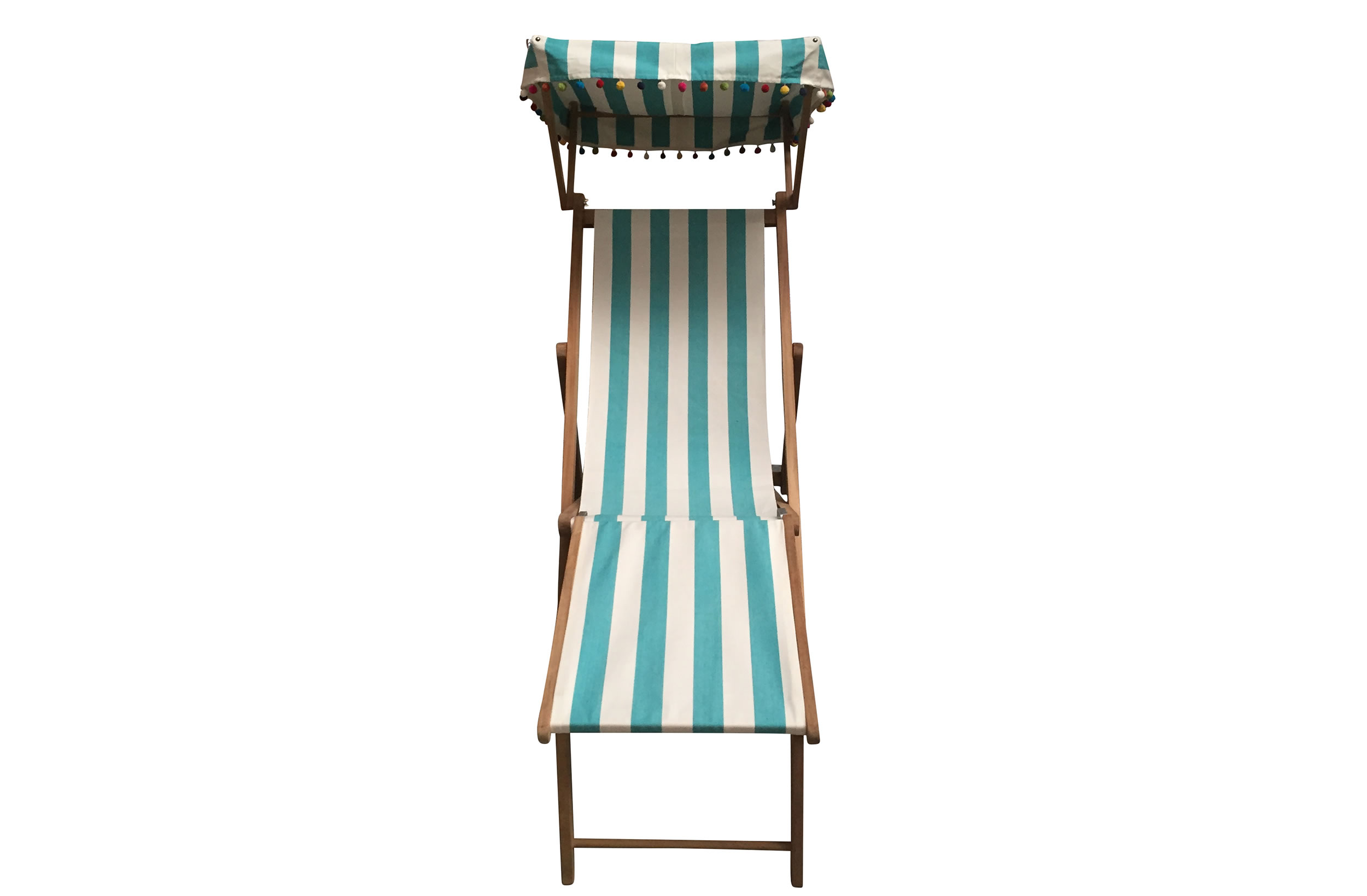 turquoise, white- Edwardian Deckchairs with Canopy and Footstool