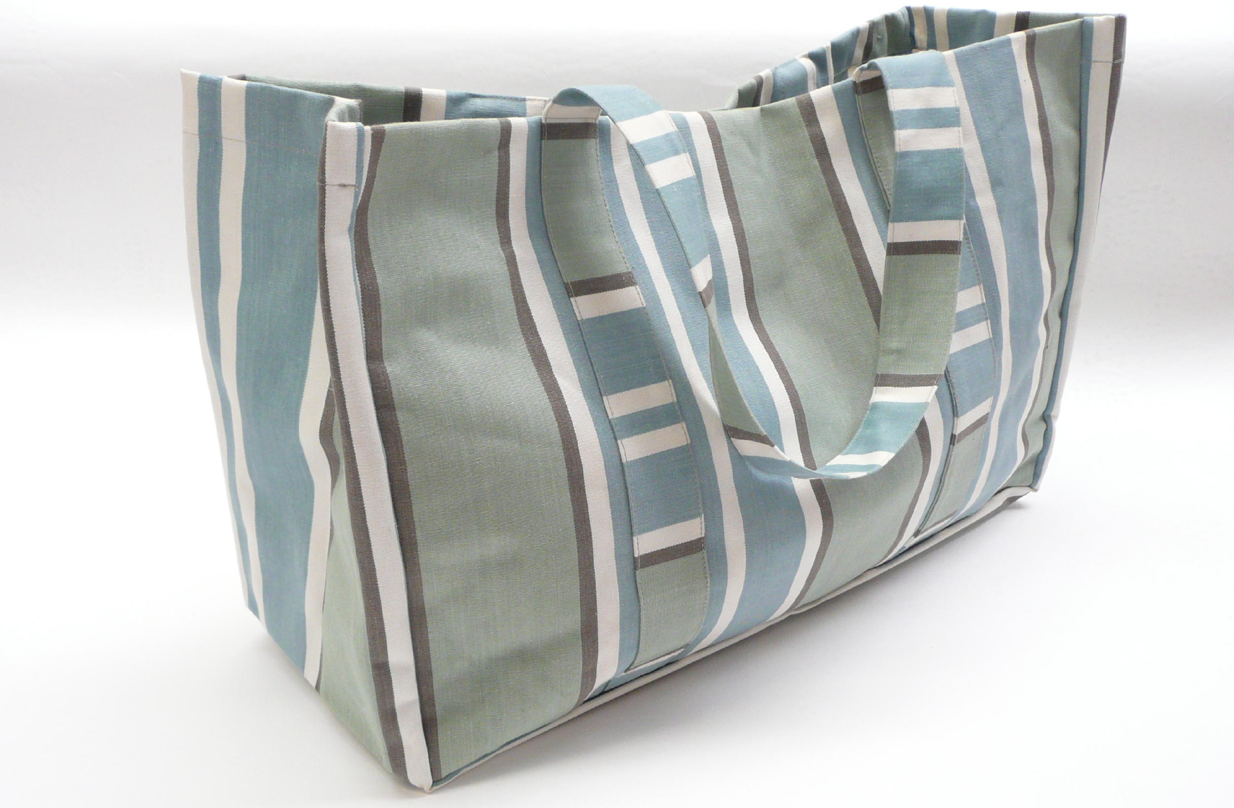 Extra Large Teal Stripe Beach Bags