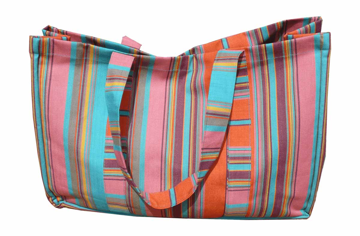 Turquoise Extra Large Beach Bags - Turquoise Stripes | The Stripes ...