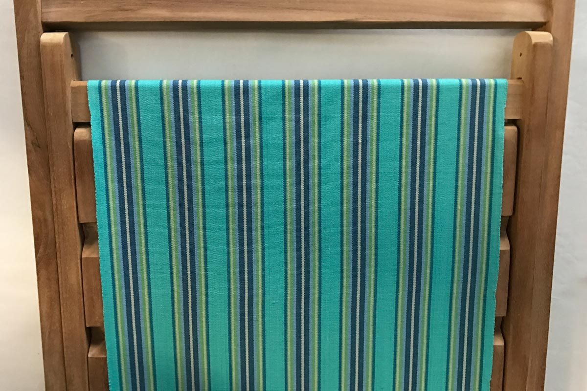 turquoise, blue, green - Deckchair Canvas | Deckchair Fabrics | Striped Deck Chair Fabrics
