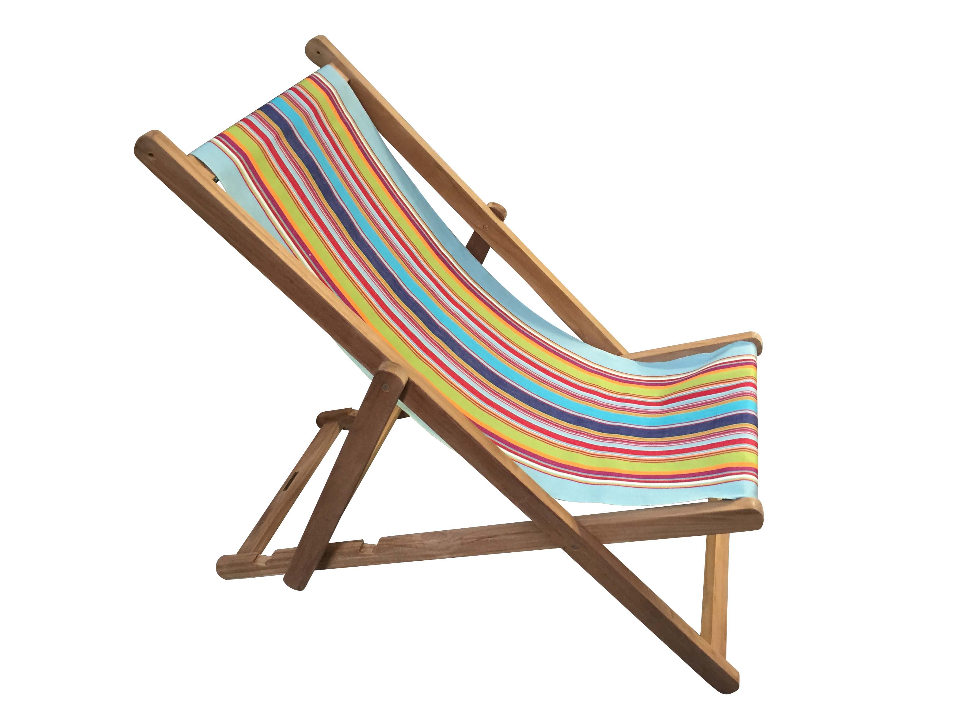 Pale Blue Deckchair - Flamenco Stripe