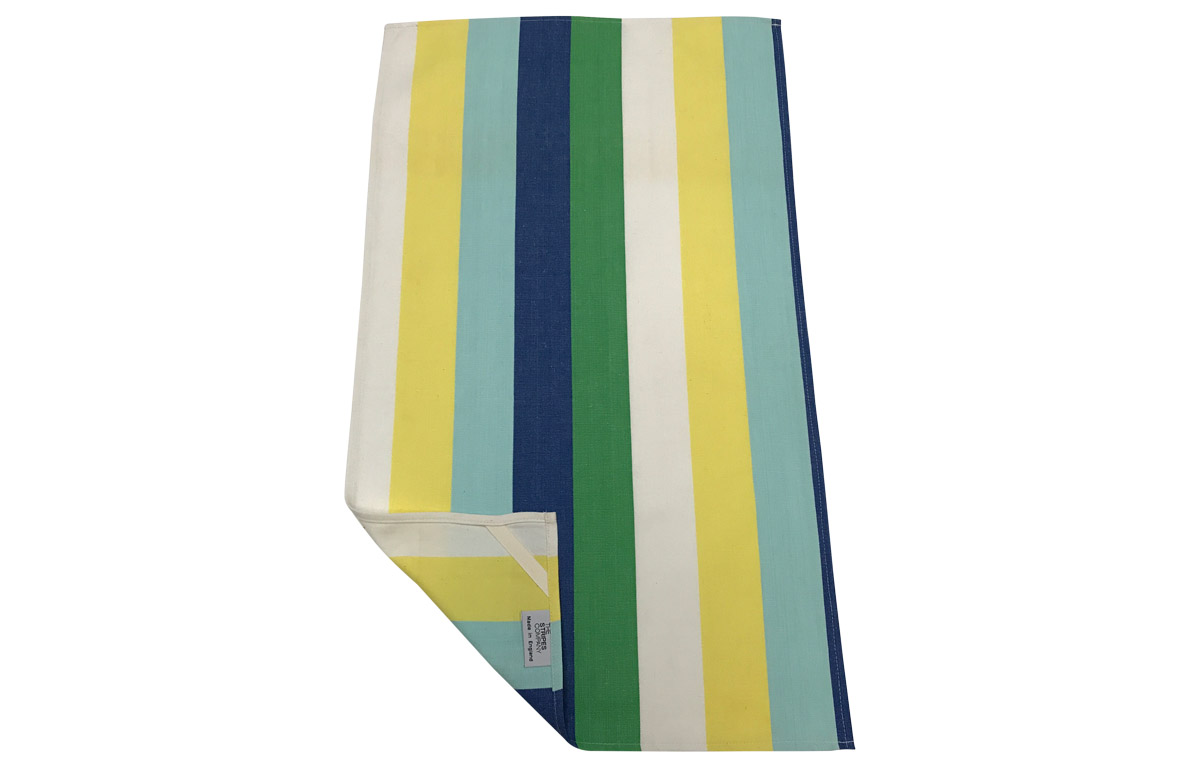 Blue Stripe Tea Towels | Striped Teatowels Flying Stripes