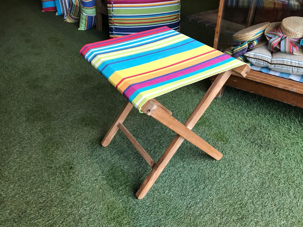 Bright Stripe Portable Folding Event Stools