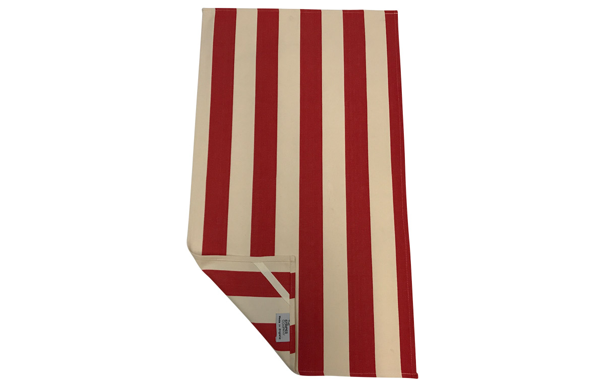 Red and White Stripe Tea Towels